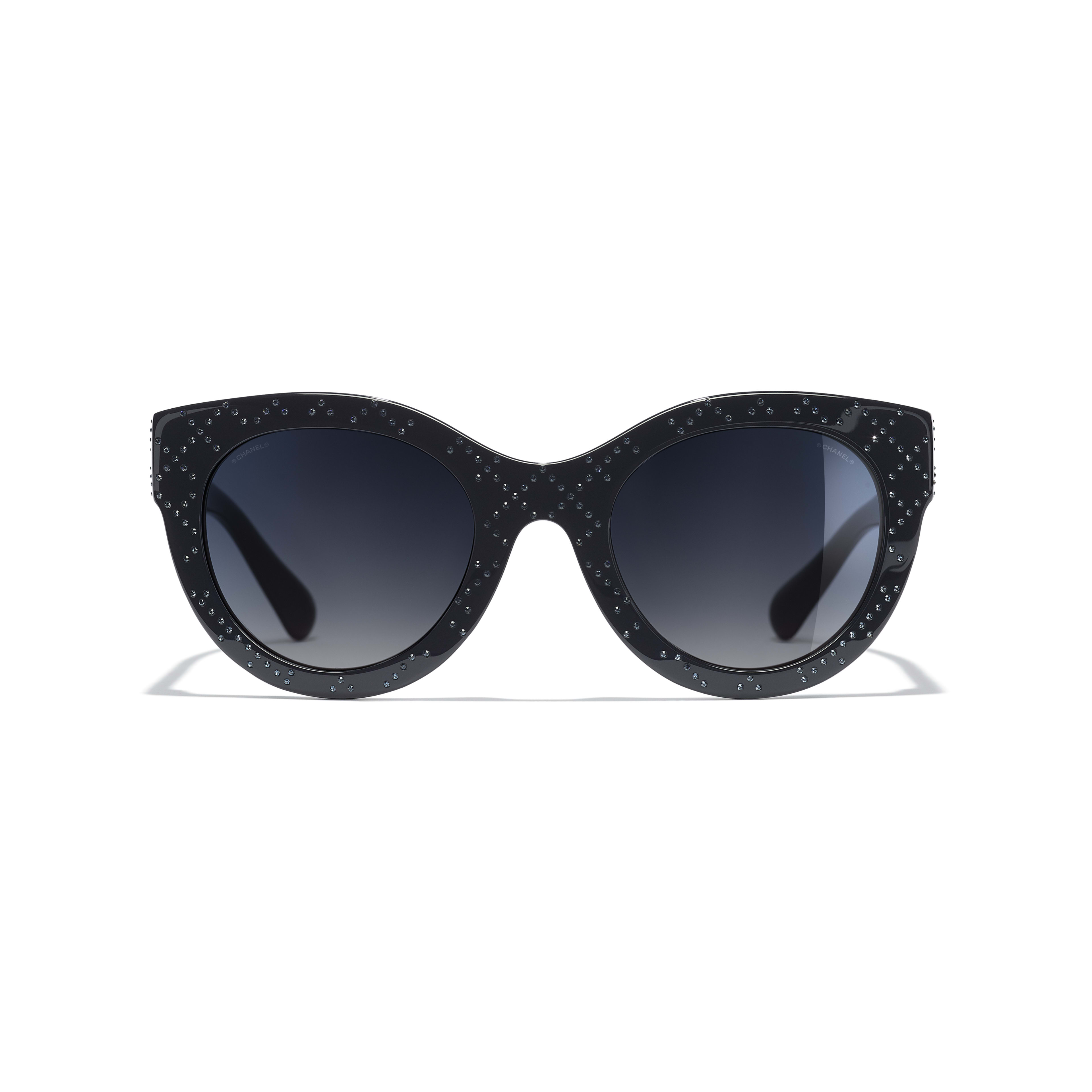Butterfly Sunglasses - Dark Blue - Acetate & Strass - Alternative view - see standard sized version
