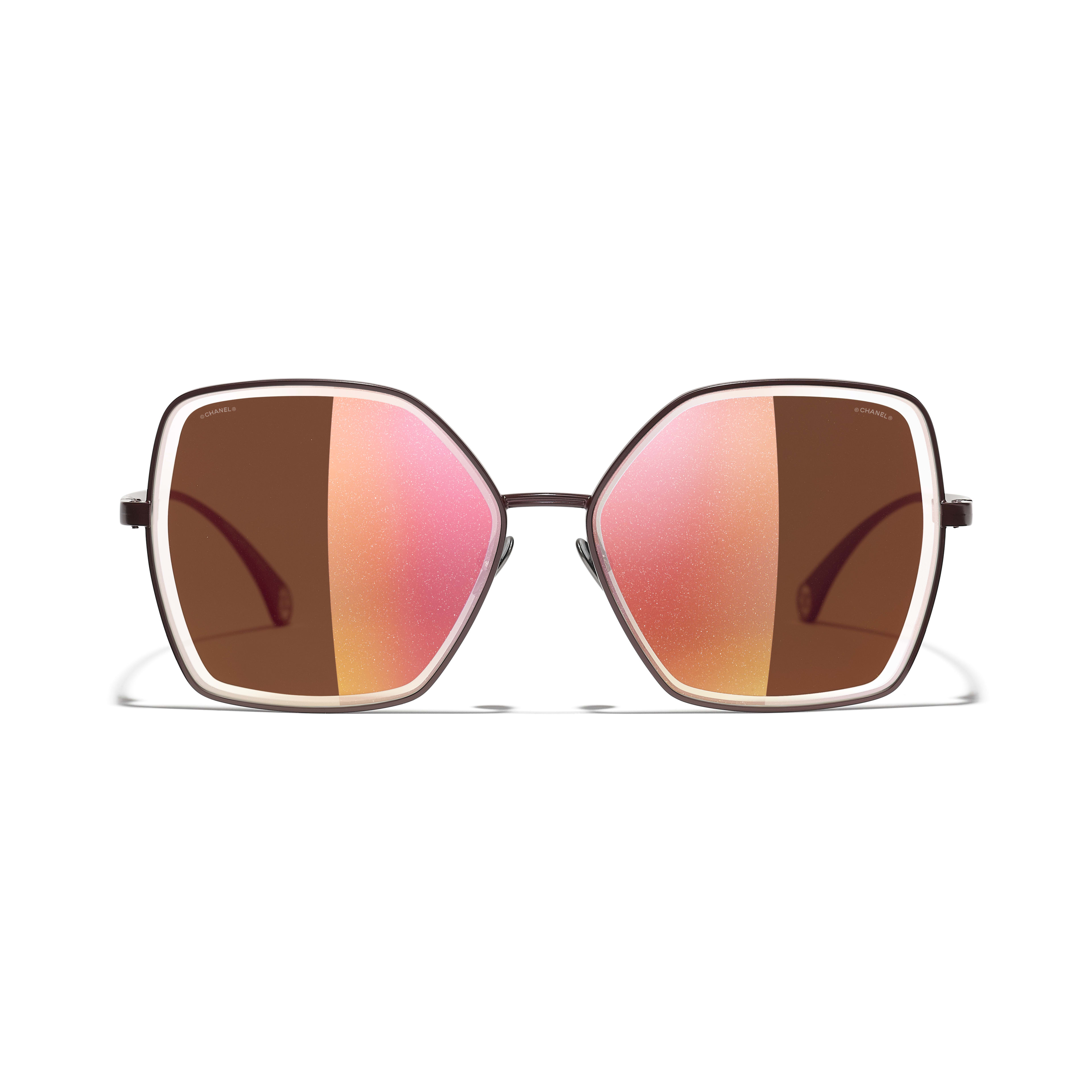 Butterfly Sunglasses - Dark Red - Metal - CHANEL - Alternative view - see standard sized version