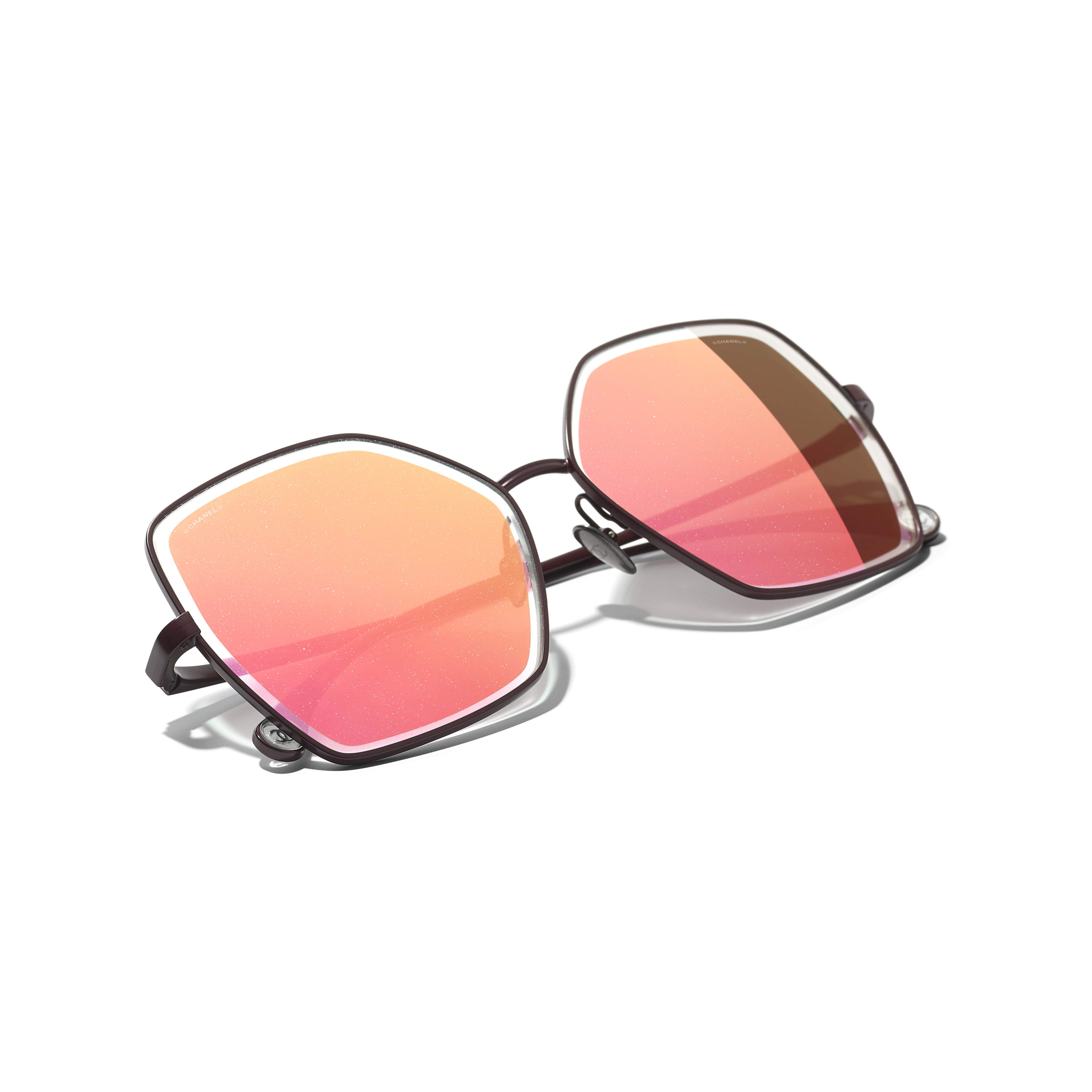 Butterfly Sunglasses - Dark Red - Metal - CHANEL - Extra view - see standard sized version