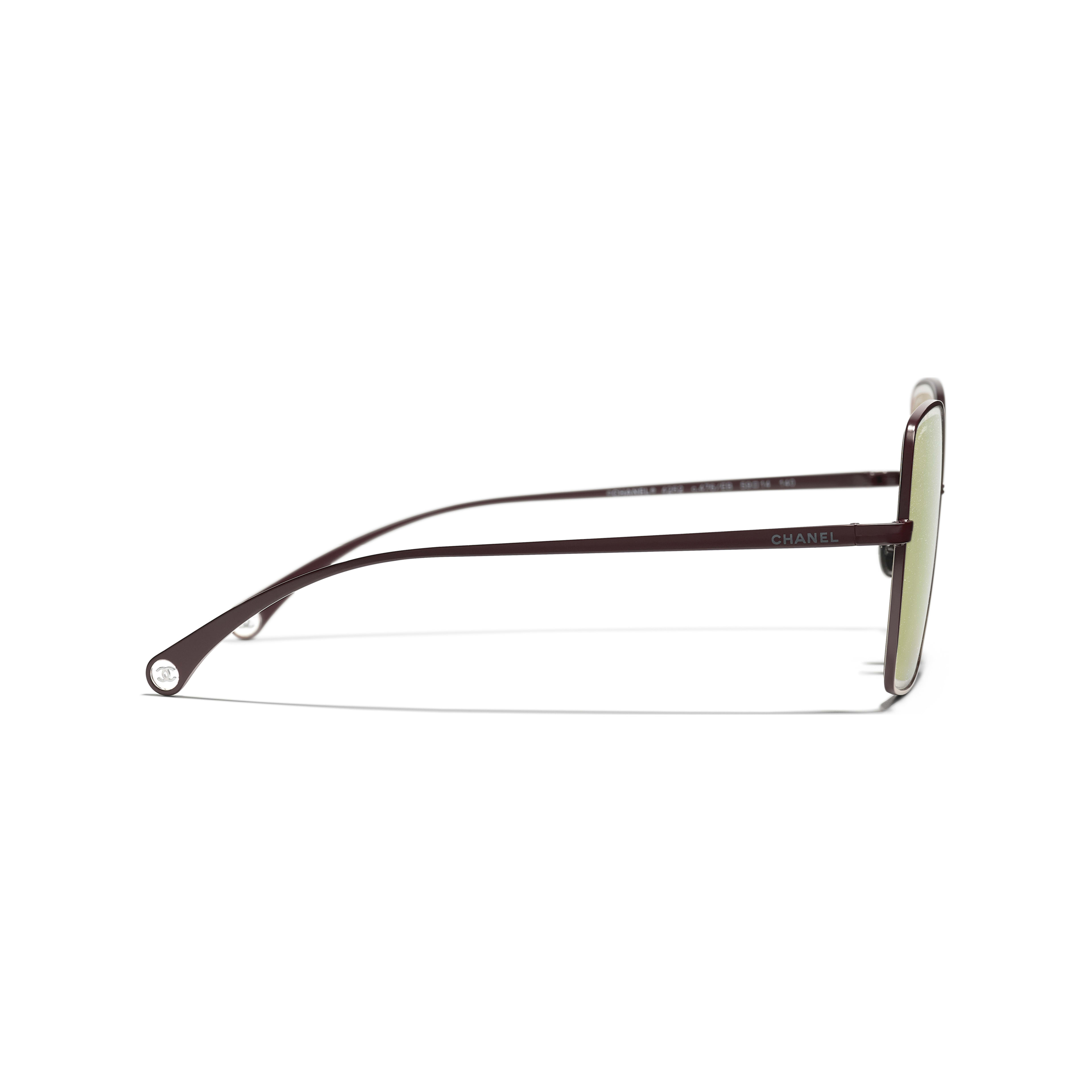 Butterfly Sunglasses - Dark Red - Metal - CHANEL - Other view - see standard sized version