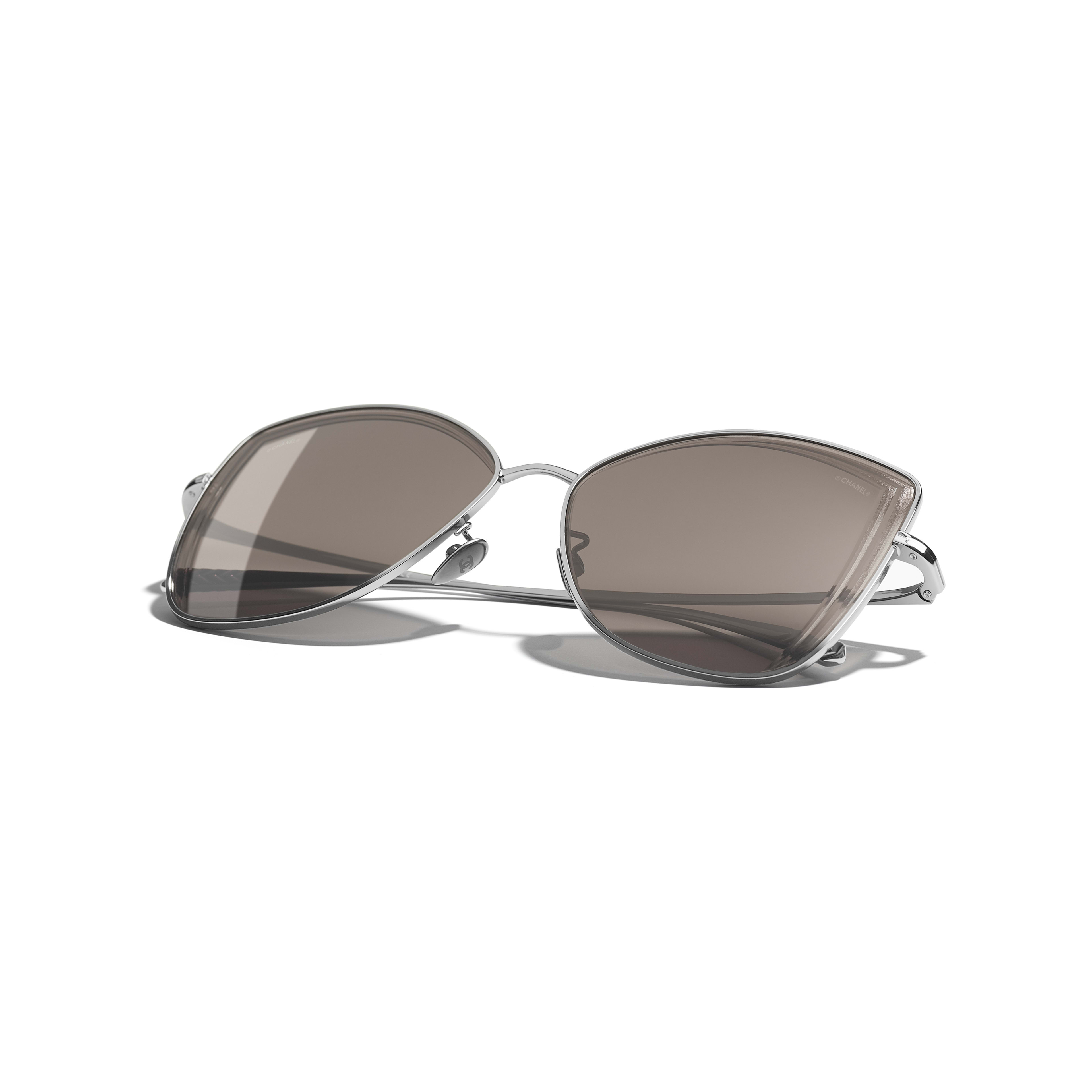 Butterfly Sunglasses - Dark Silver - Metal - Extra view - see standard sized version