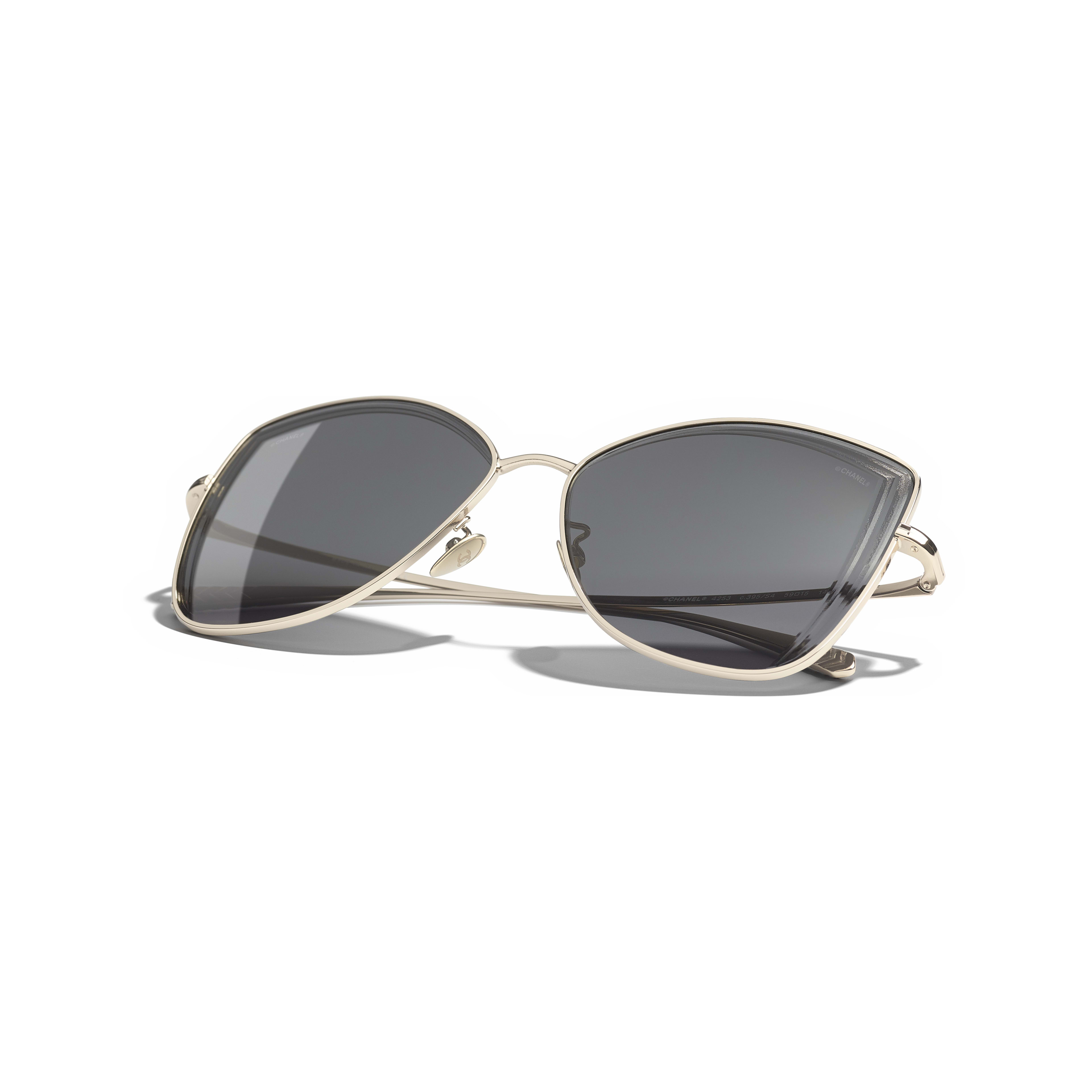 Butterfly Sunglasses - Gold - Metal - Extra view - see standard sized version