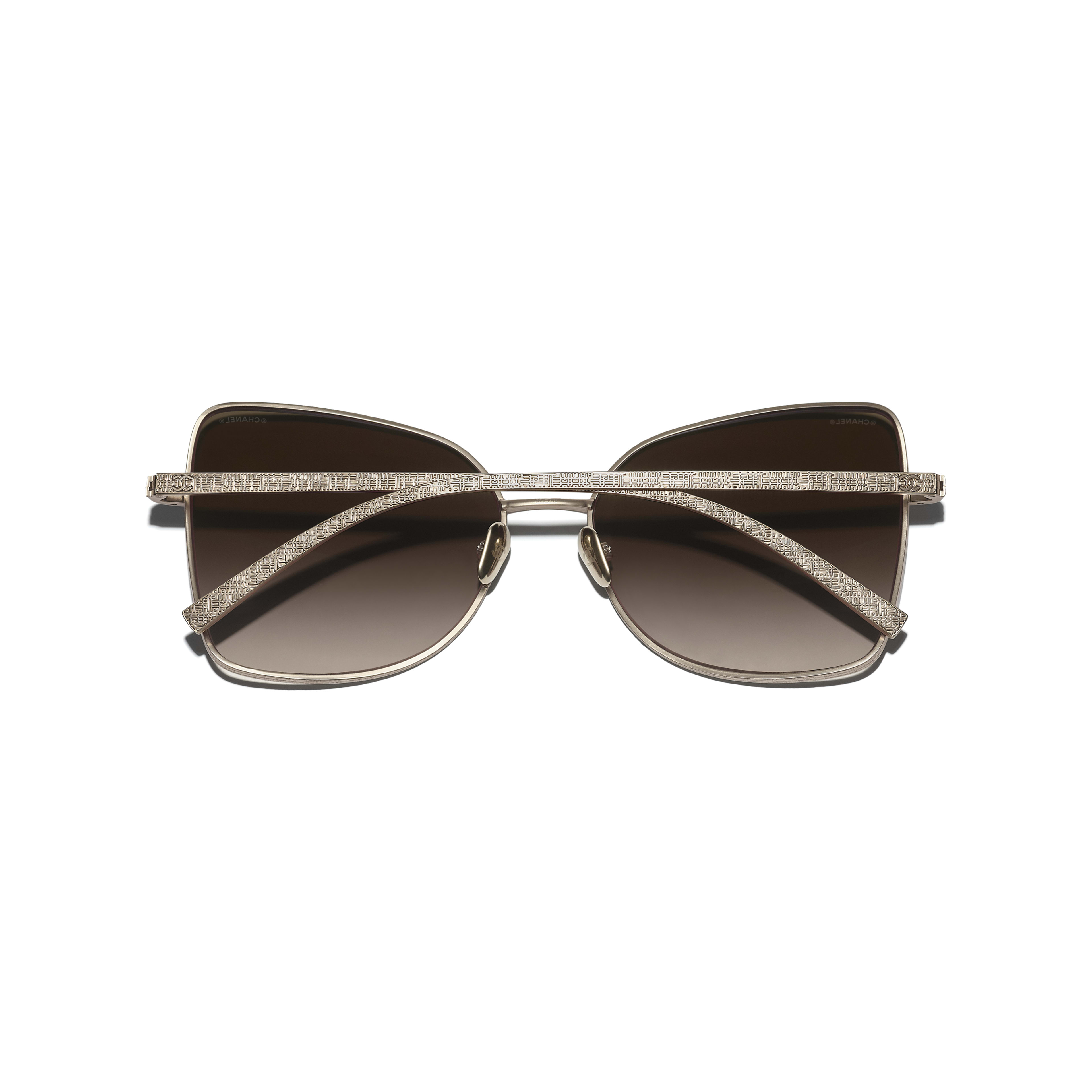 Butterfly Sunglasses - Gold - Titanium - CHANEL - Extra view - see standard sized version