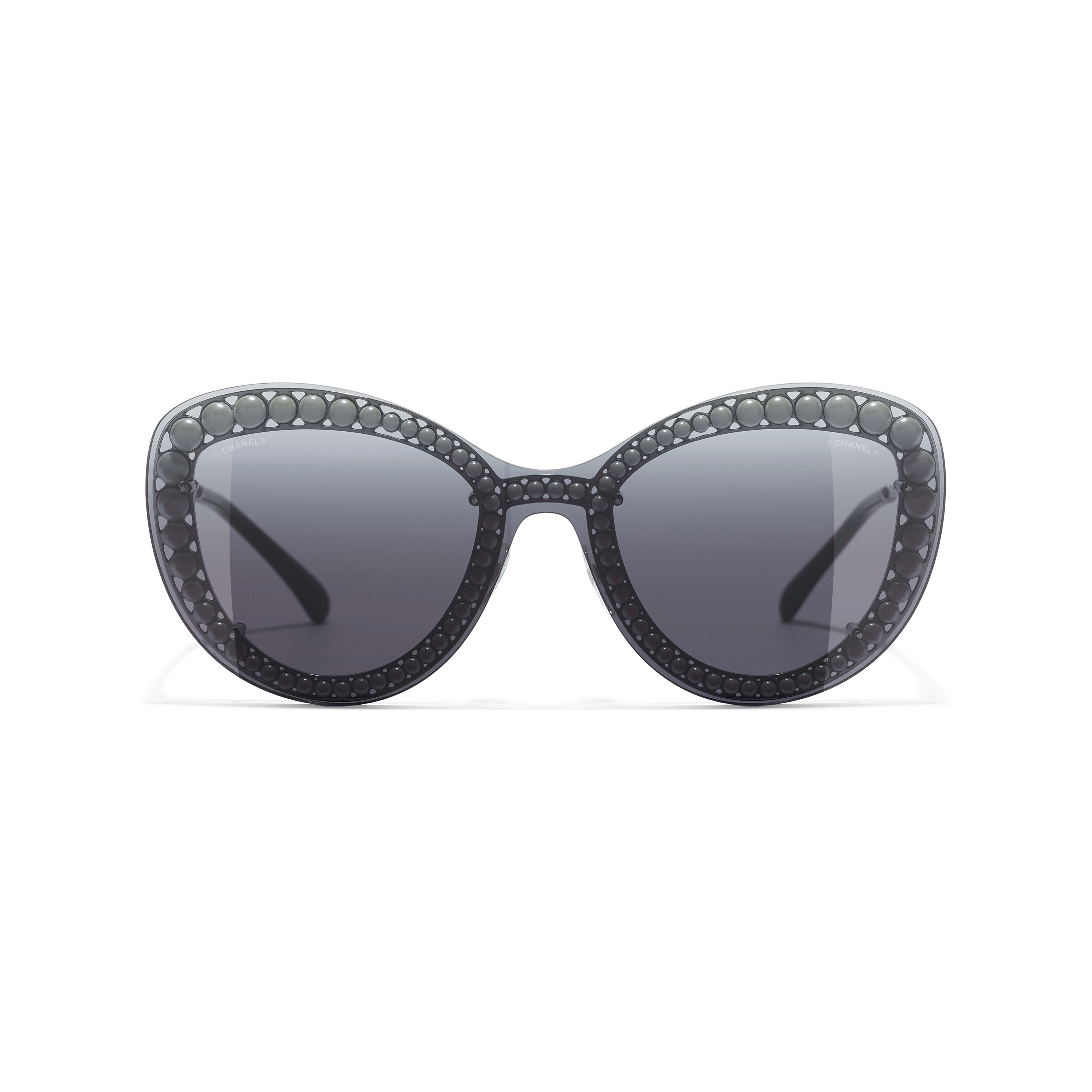 Butterfly Sunglasses - Silver - Metal & Imitation Pearls - Alternative view - see standard sized version