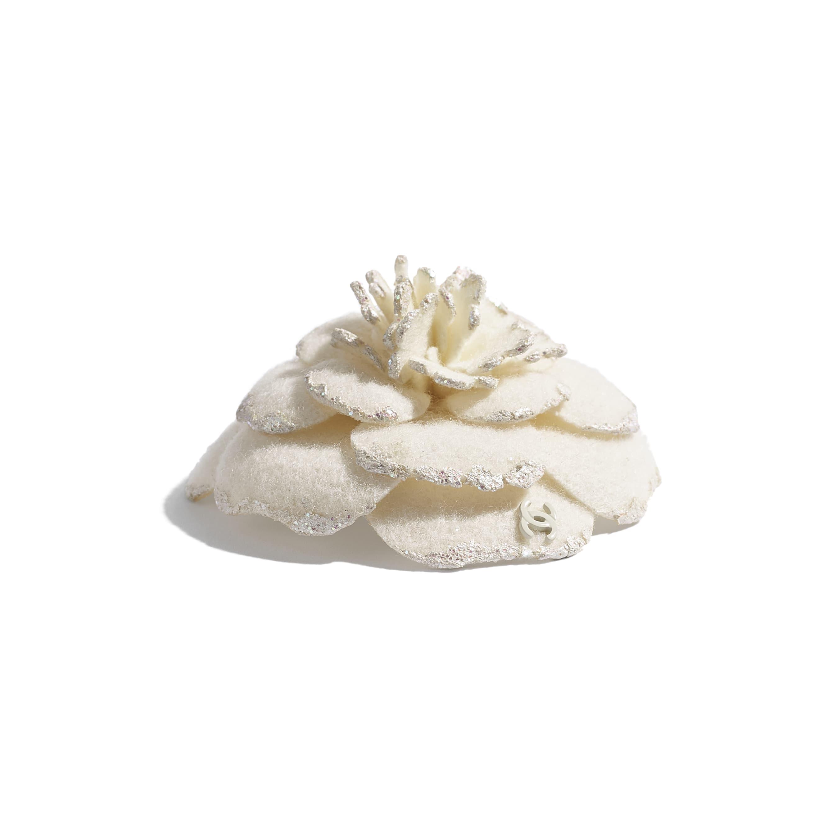 Camellia - Ivory - Wool Tweed - Alternative view - see standard sized version