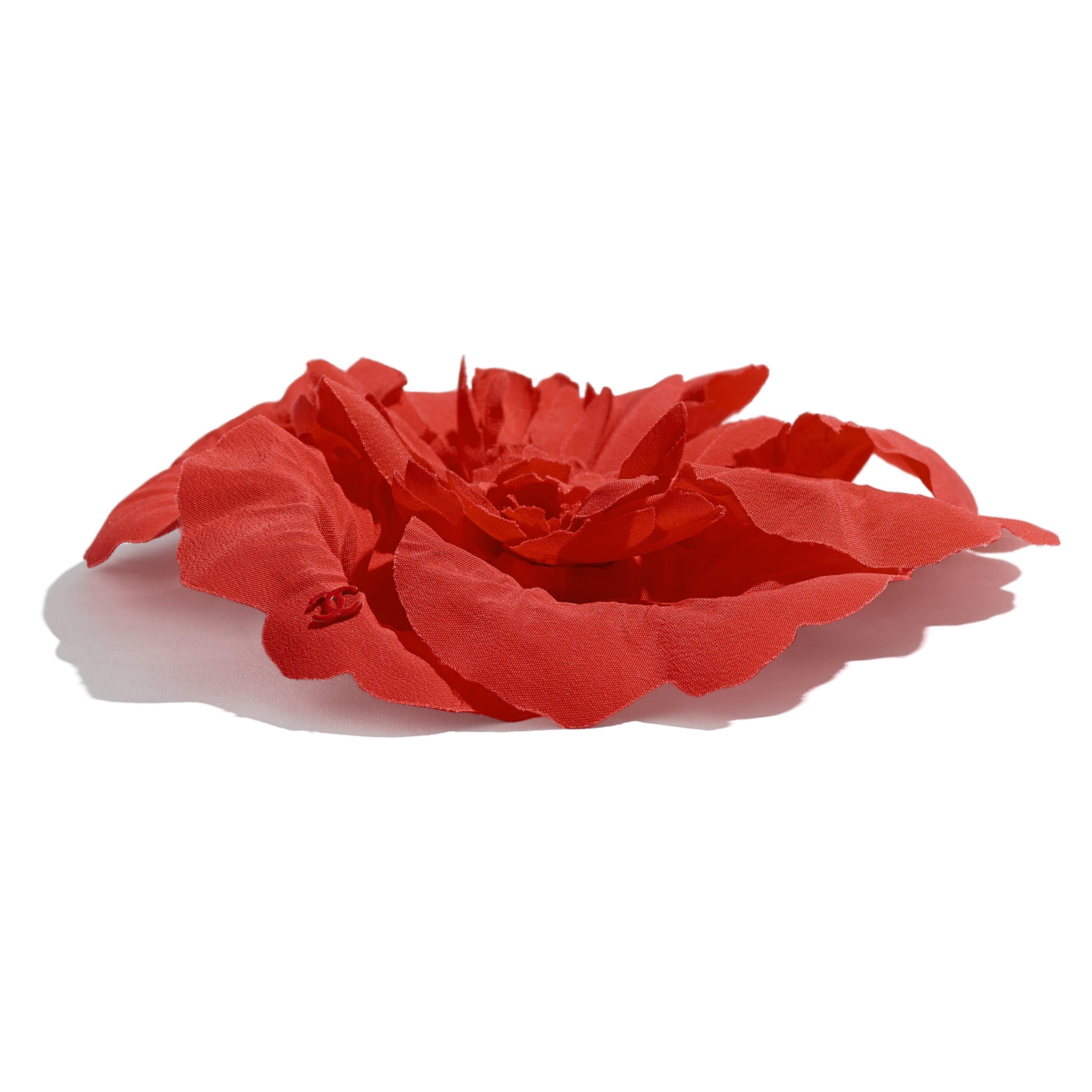 Camellia - Orange - Silk Crepe - Alternative view - see standard sized version