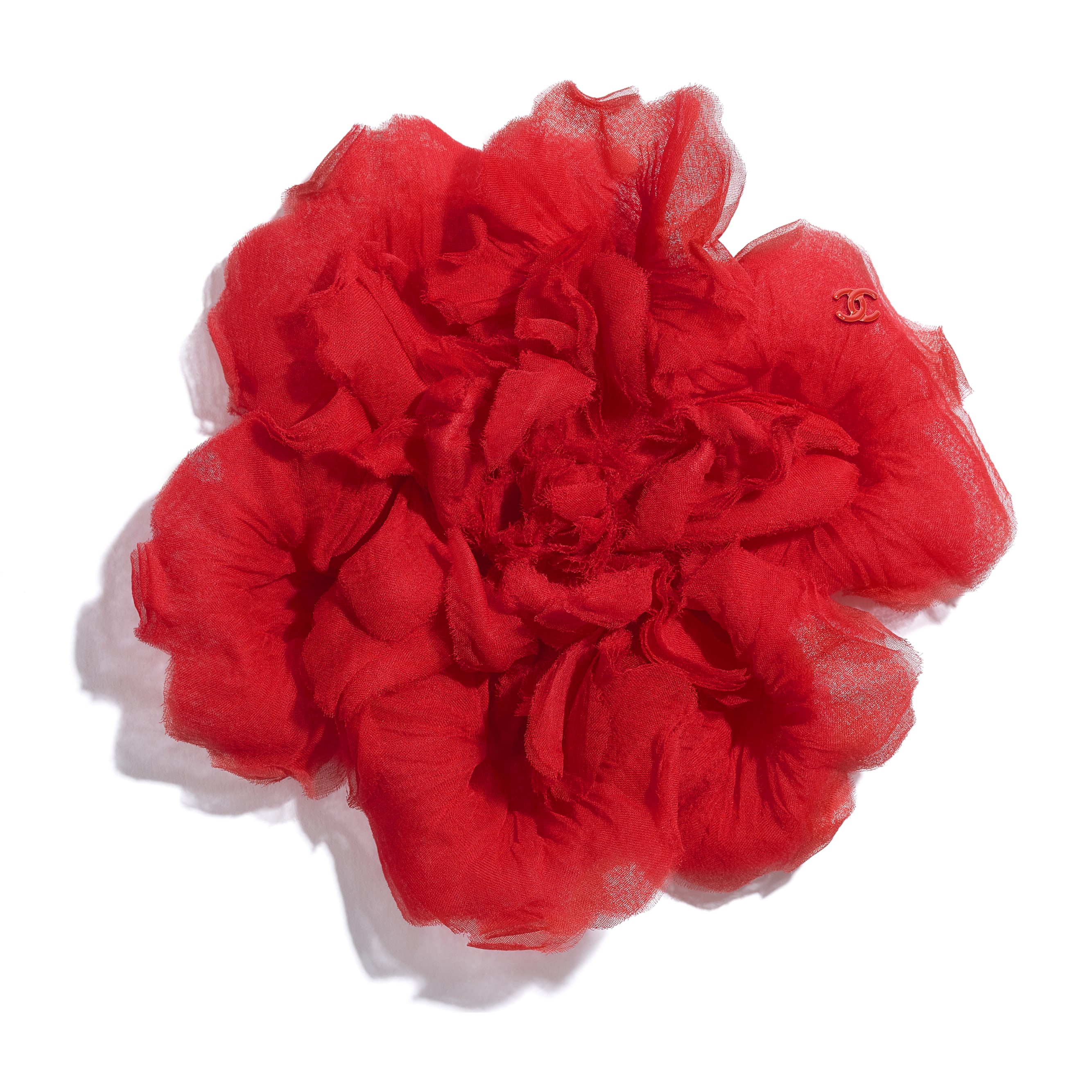 Camellia - Red - Silk Muslin - Default view - see standard sized version