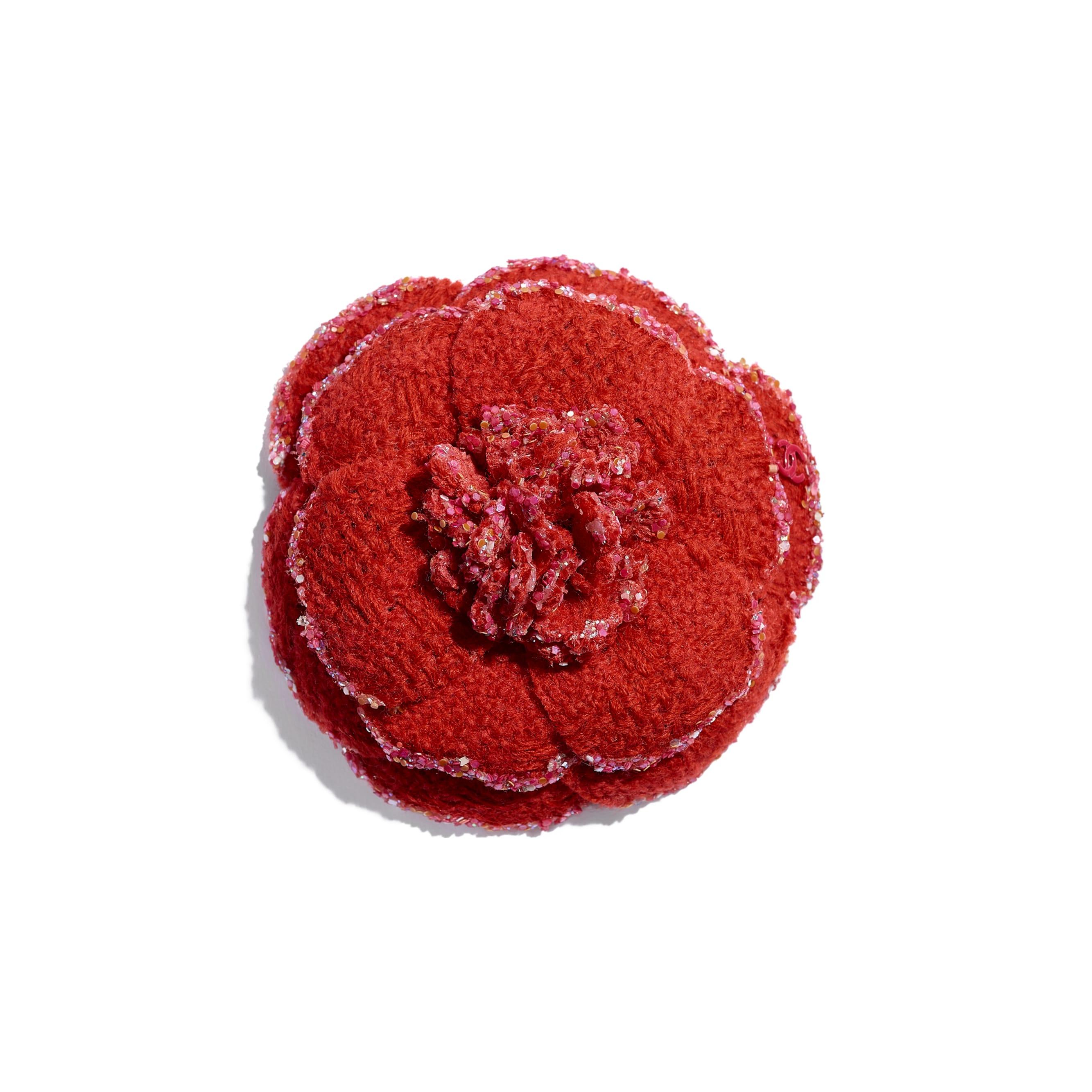 Camellia - Red - Wool Tweed - Default view - see standard sized version