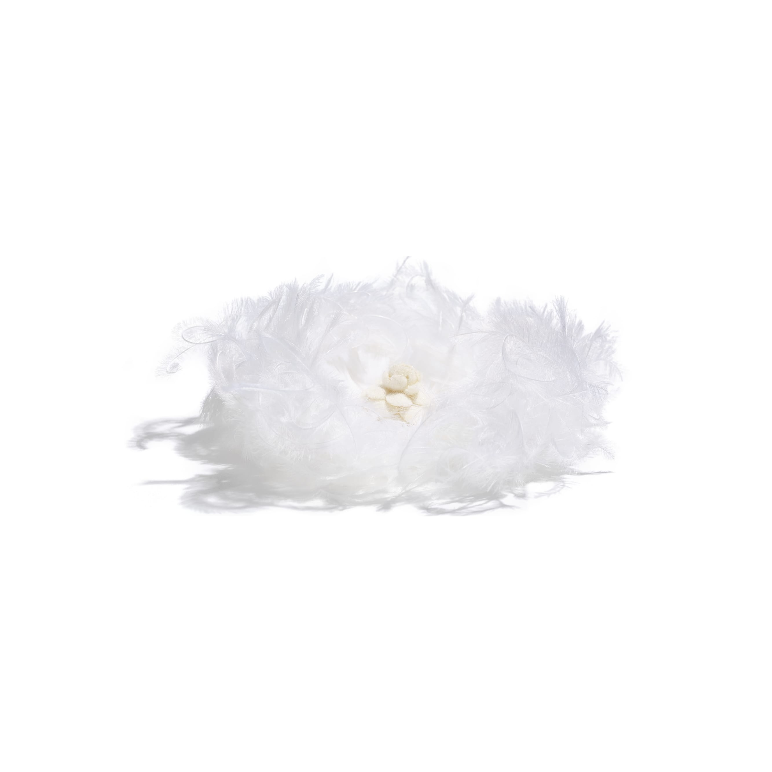 Camellia - White - Feathers & Wool - Alternative view - see standard sized version