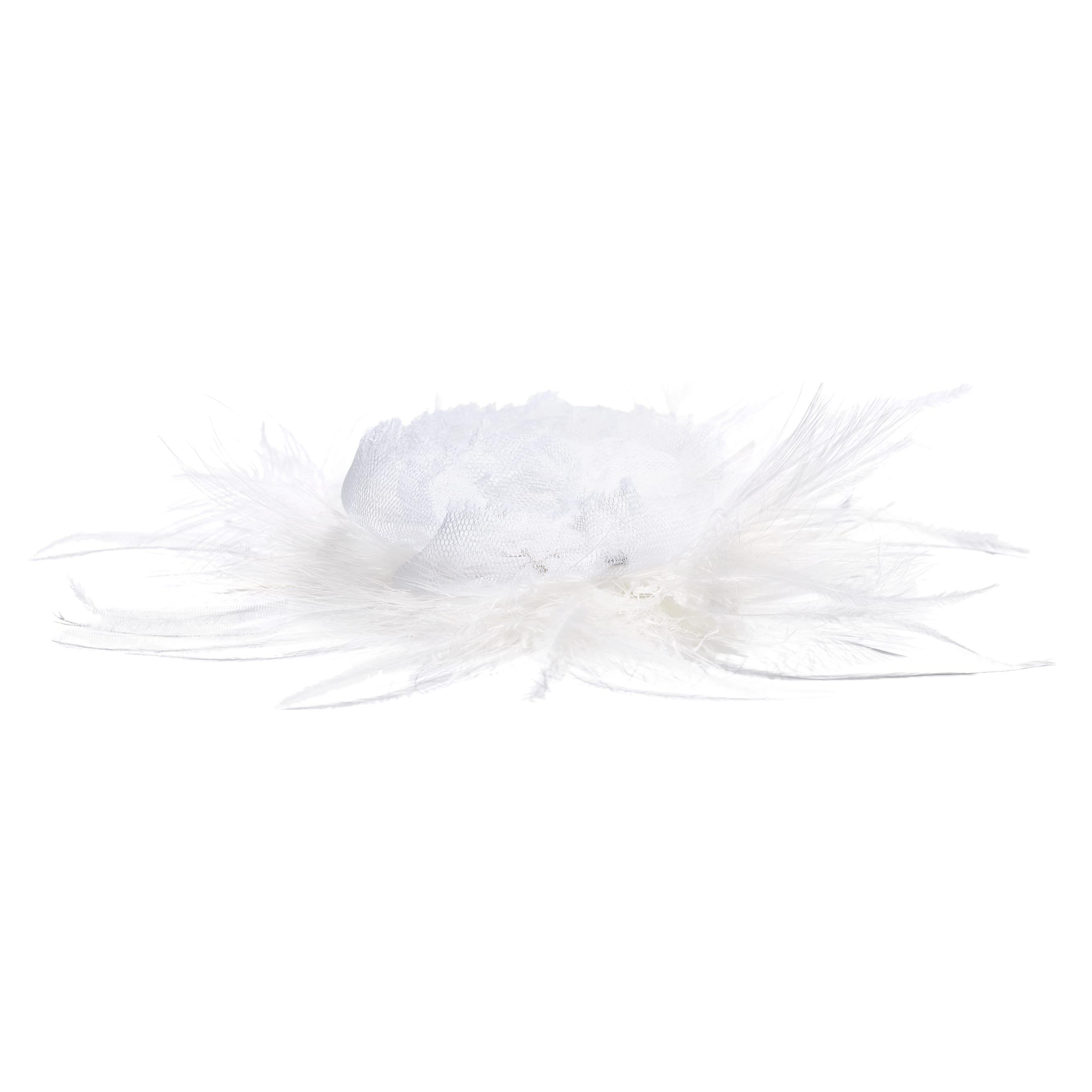 Camellia - White - Silk & Feathers - Alternative view - see standard sized version