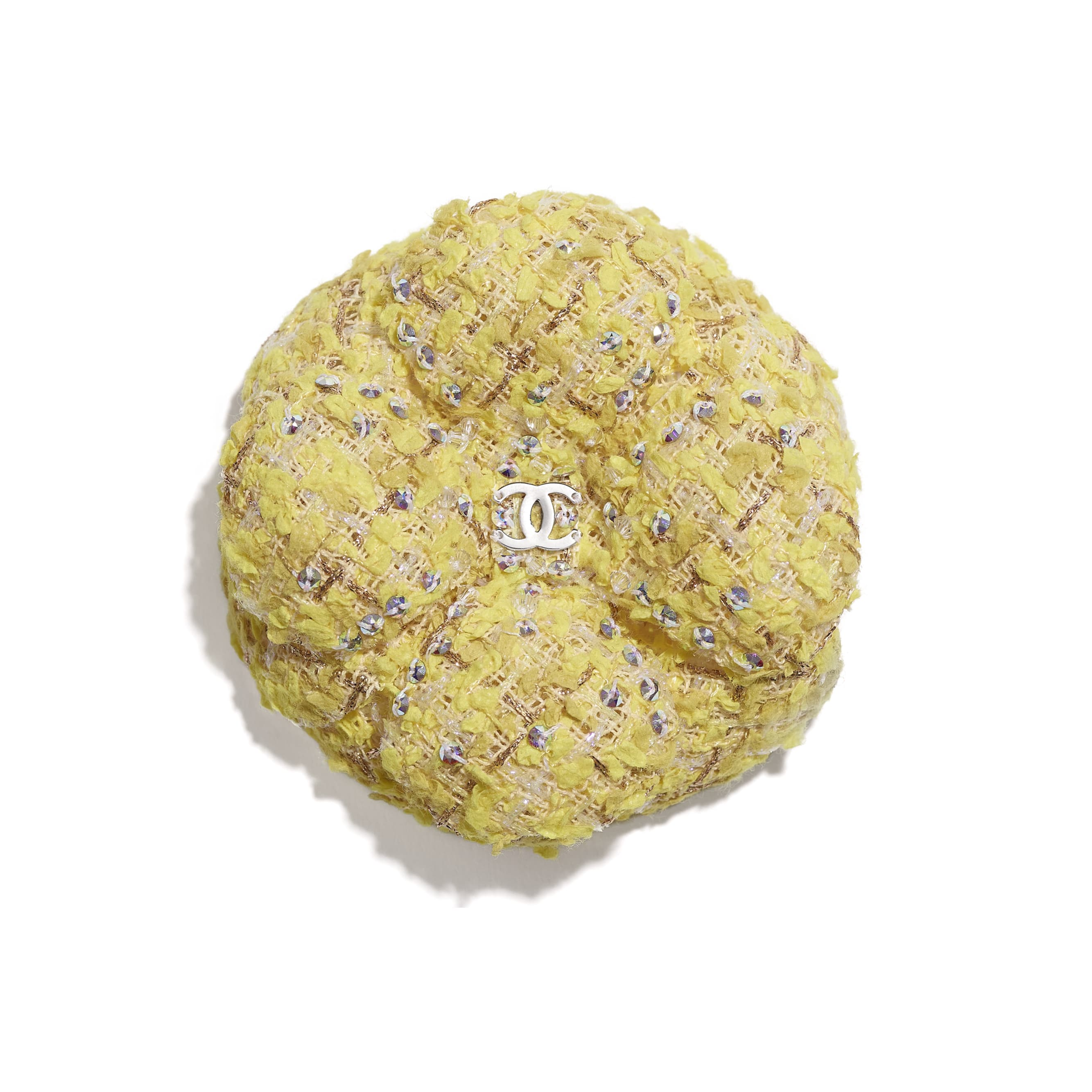 Camellia - Yellow & Gold - Tweed & Strass - CHANEL - Default view - see standard sized version