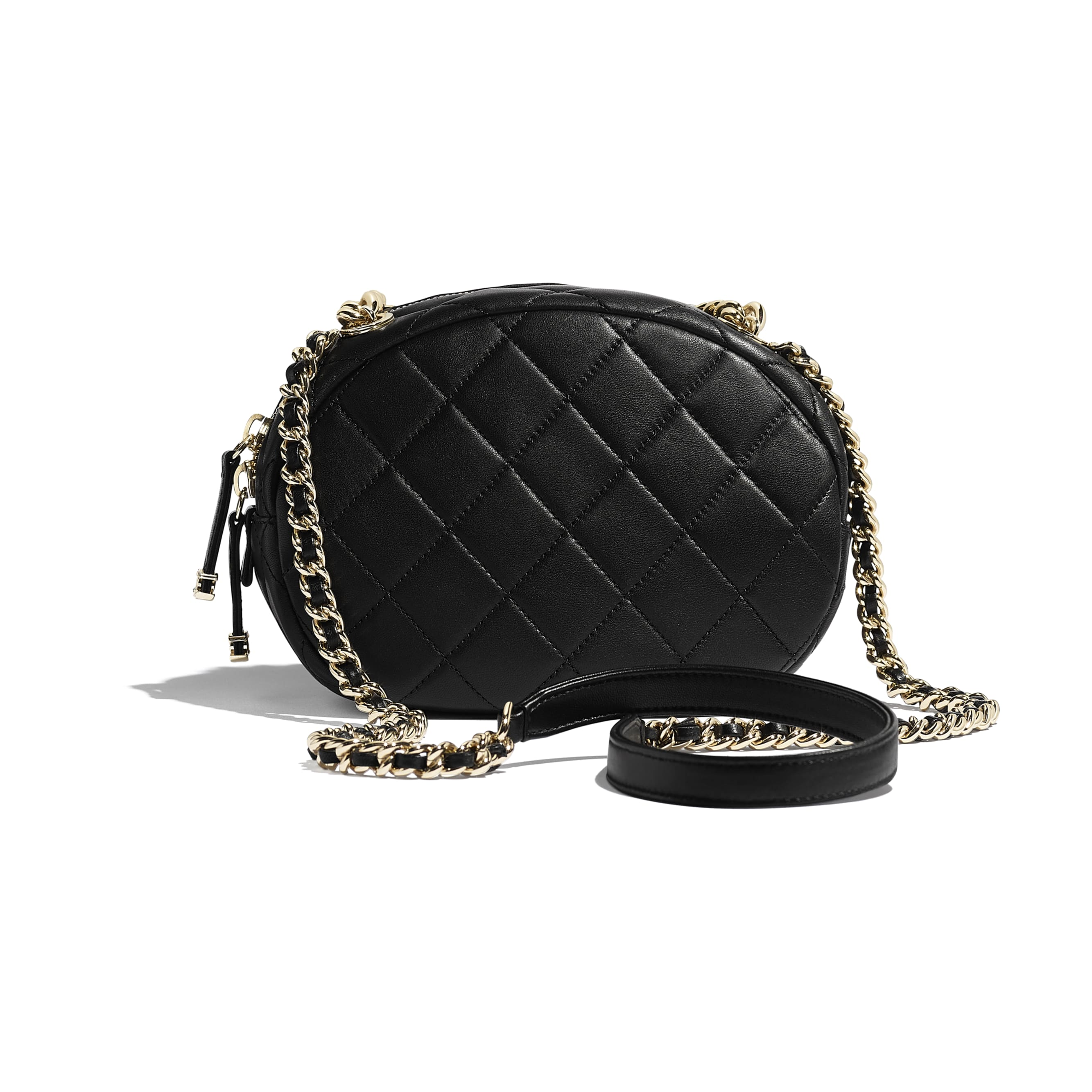 Camera Case - Black - Lambskin, Studs & Gold-Tone Metal - CHANEL - Alternative view - see standard sized version