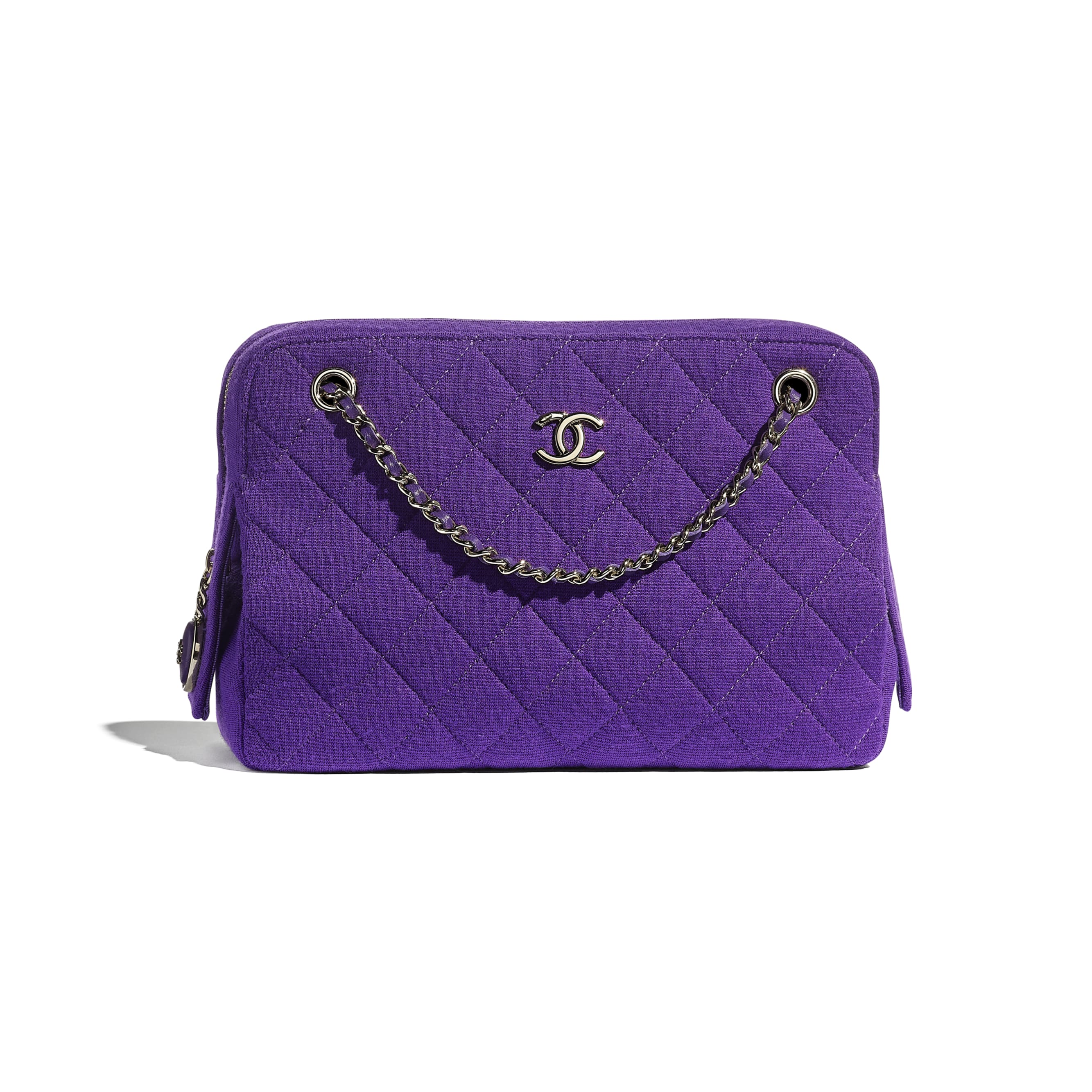 Camera Case - Purple - Jersey & Gold Metal - CHANEL - Default view - see standard sized version