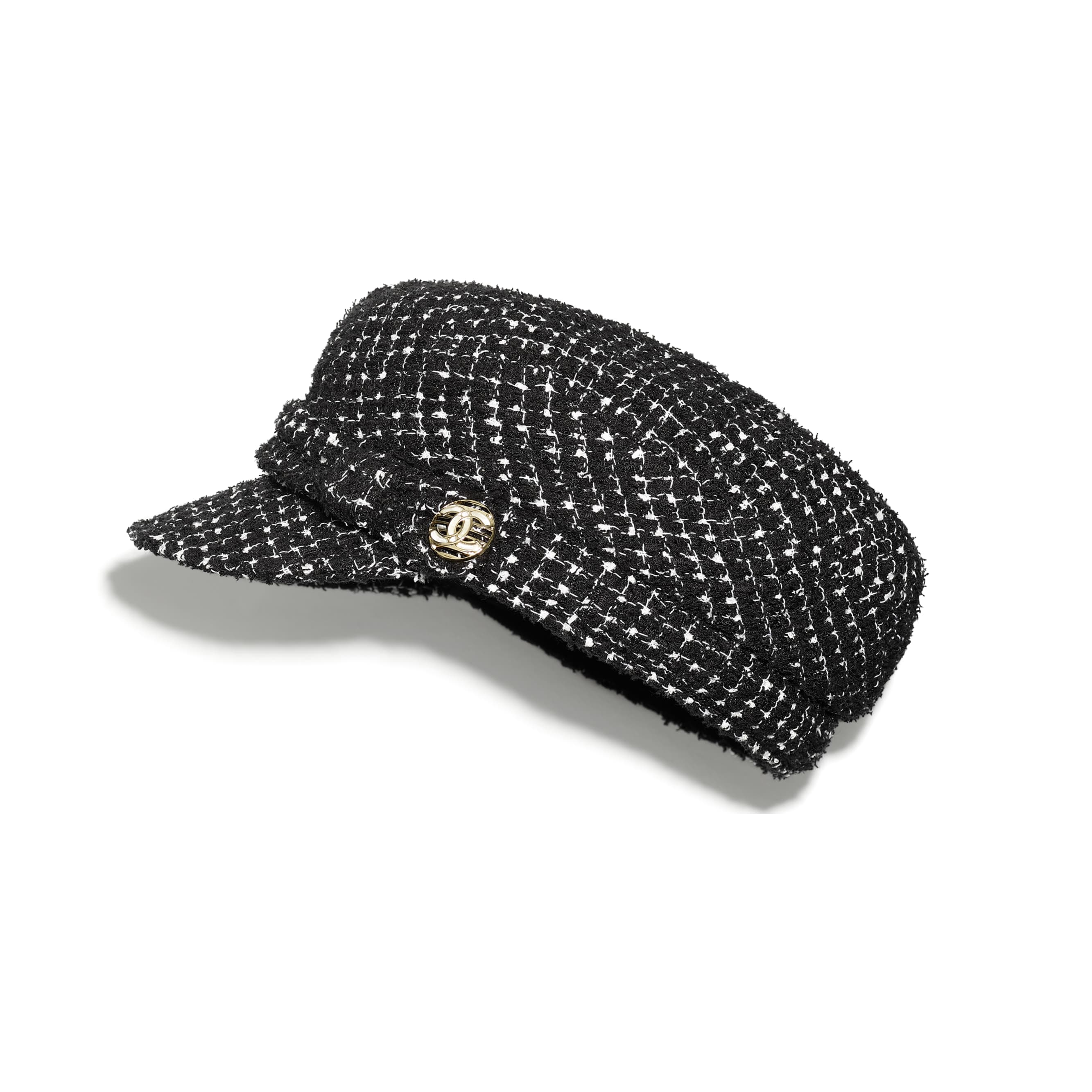 Cap - Black & White - Tweed & Metal - CHANEL - Default view - see standard sized version