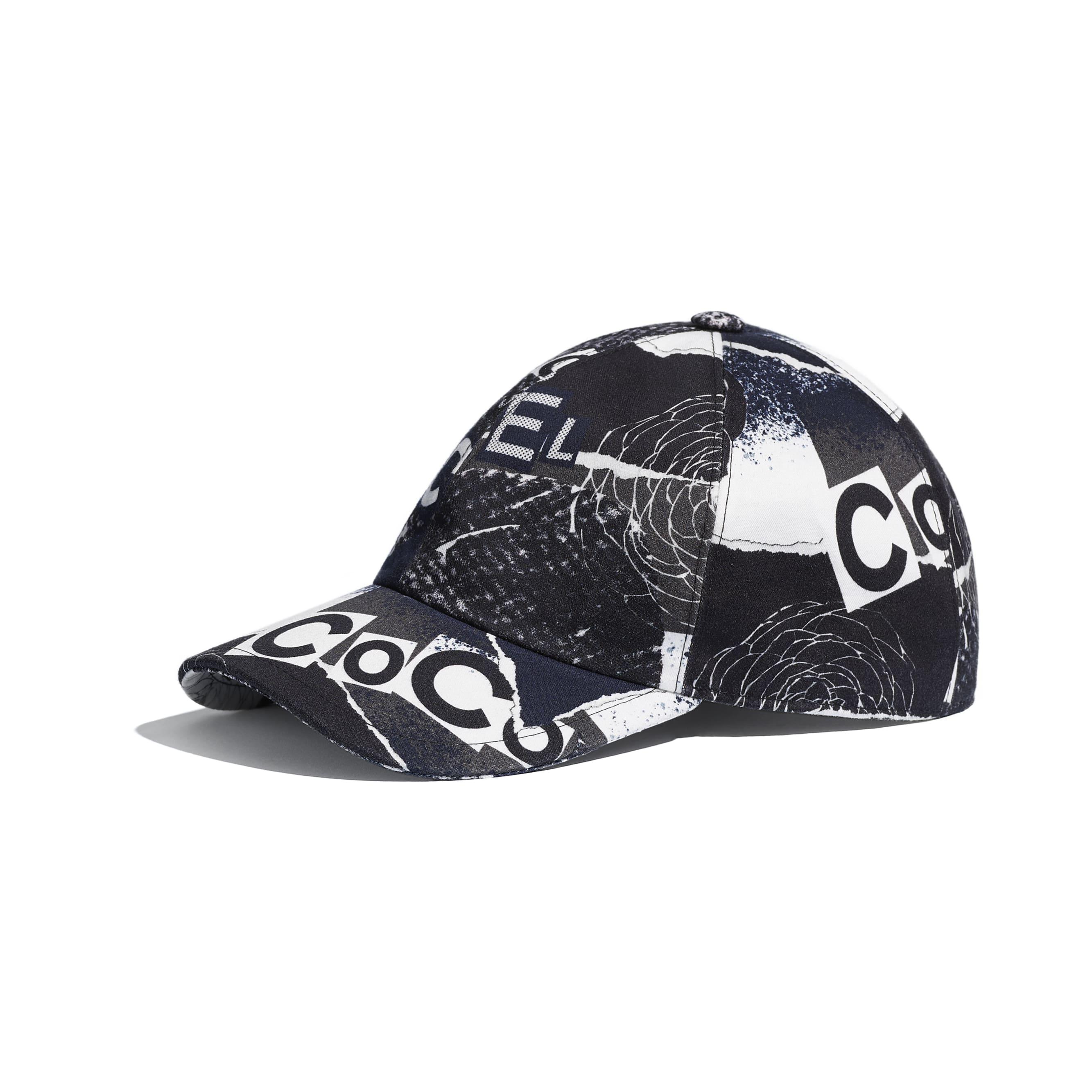 Cap - Navy Blue, White, Black & Grey - Cotton - CHANEL - Default view - see standard sized version