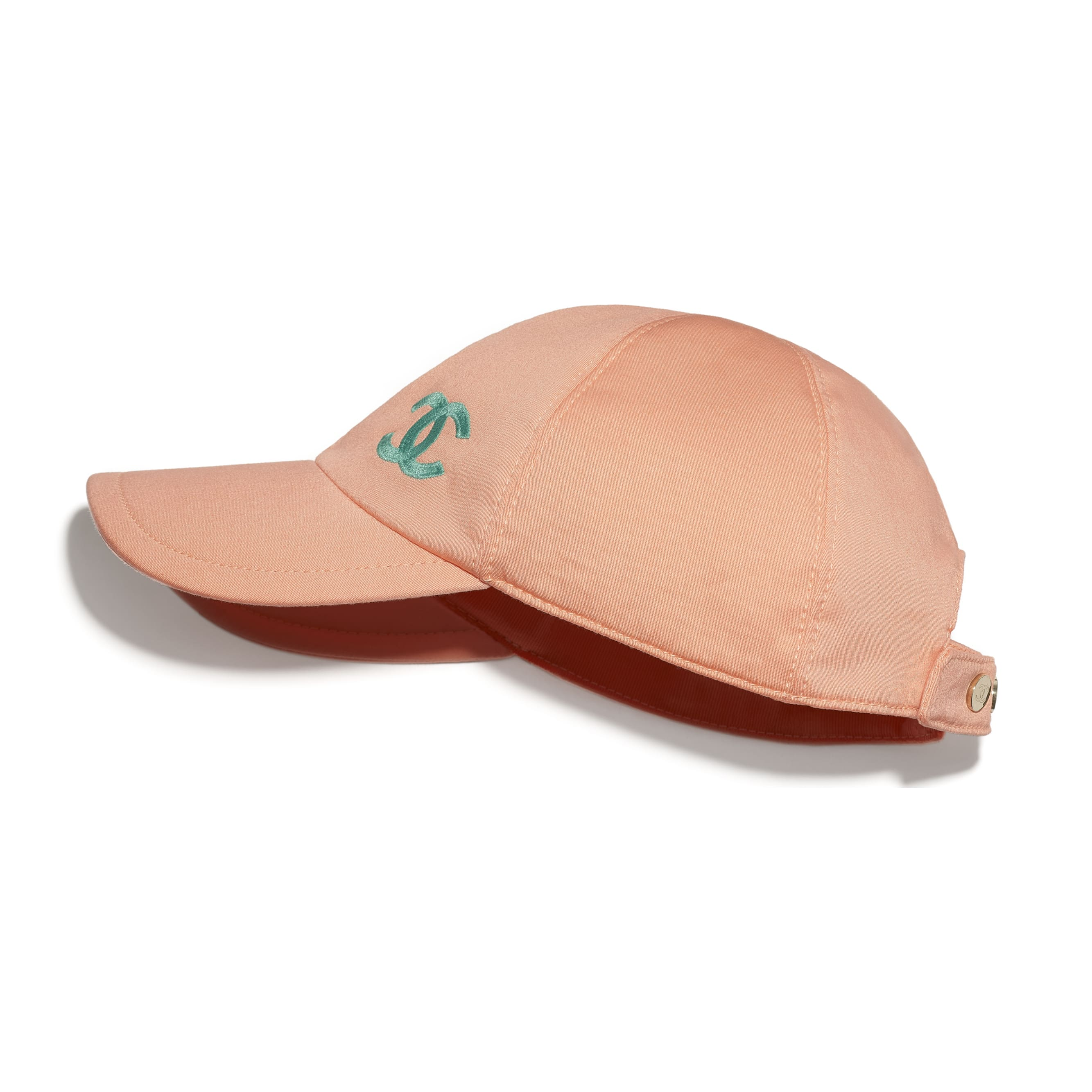 Cap - Orange & Turquoise - Cotton - CHANEL - Default view - see standard sized version