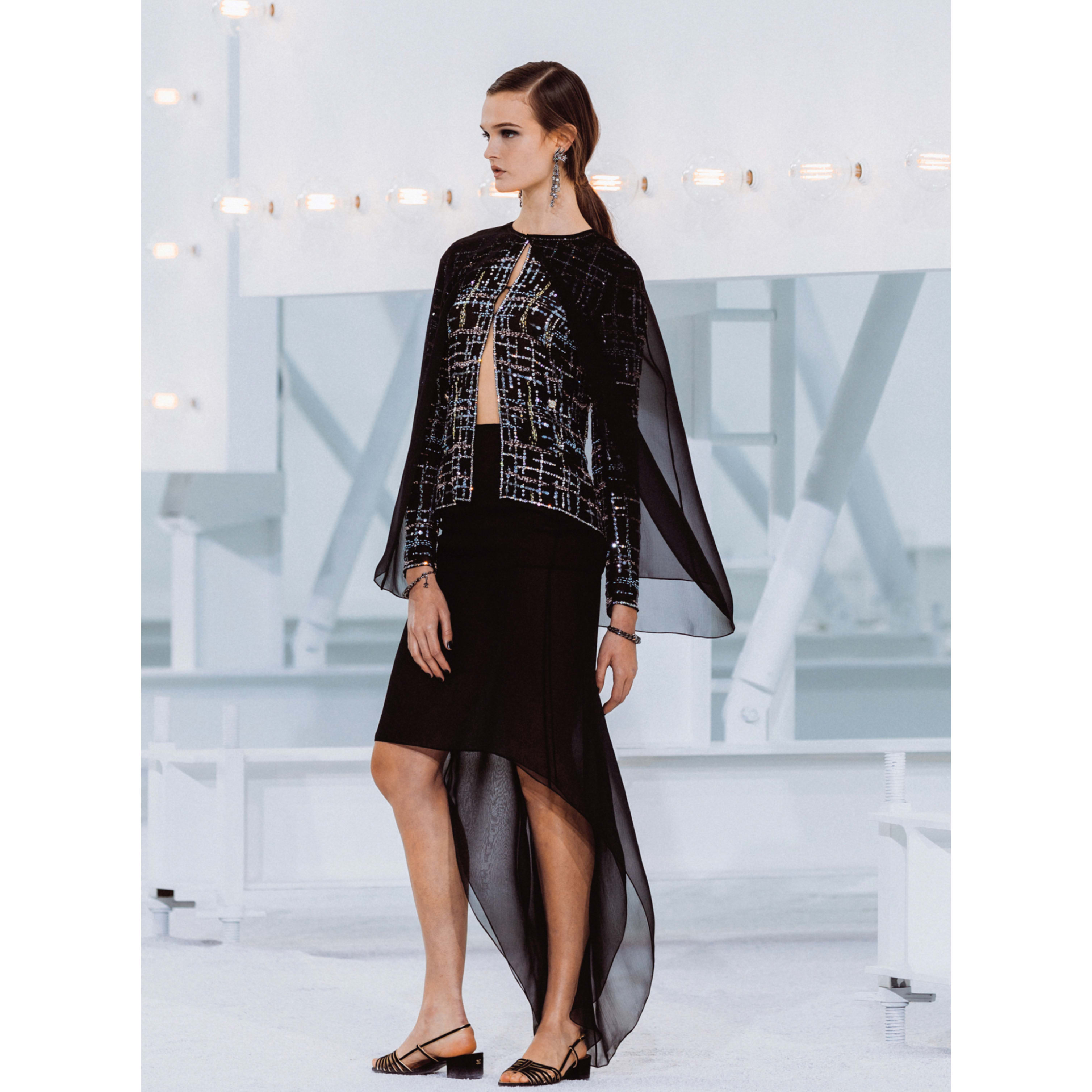 Cape - Black - Silk Muslin - CHANEL - Default view - see standard sized version