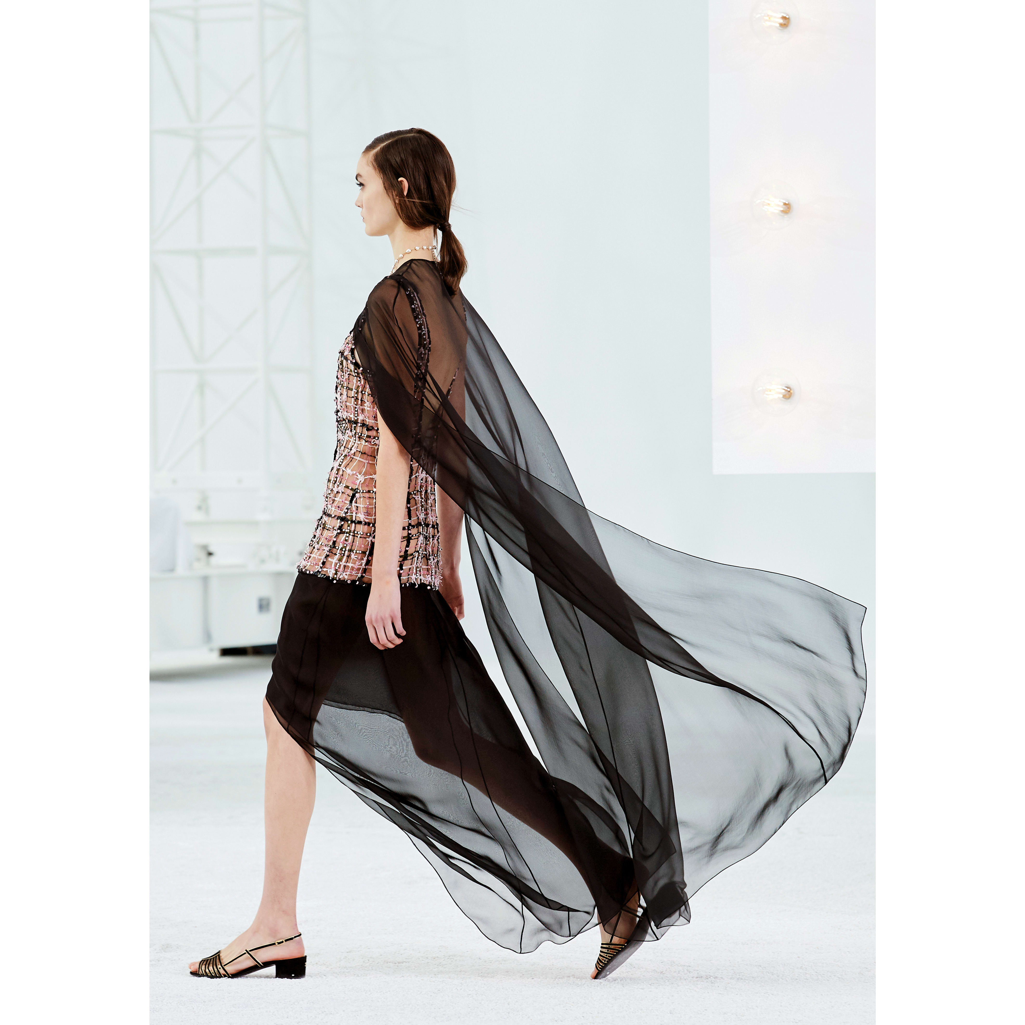 Cape - Black - Silk Muslin - CHANEL - Other view - see standard sized version