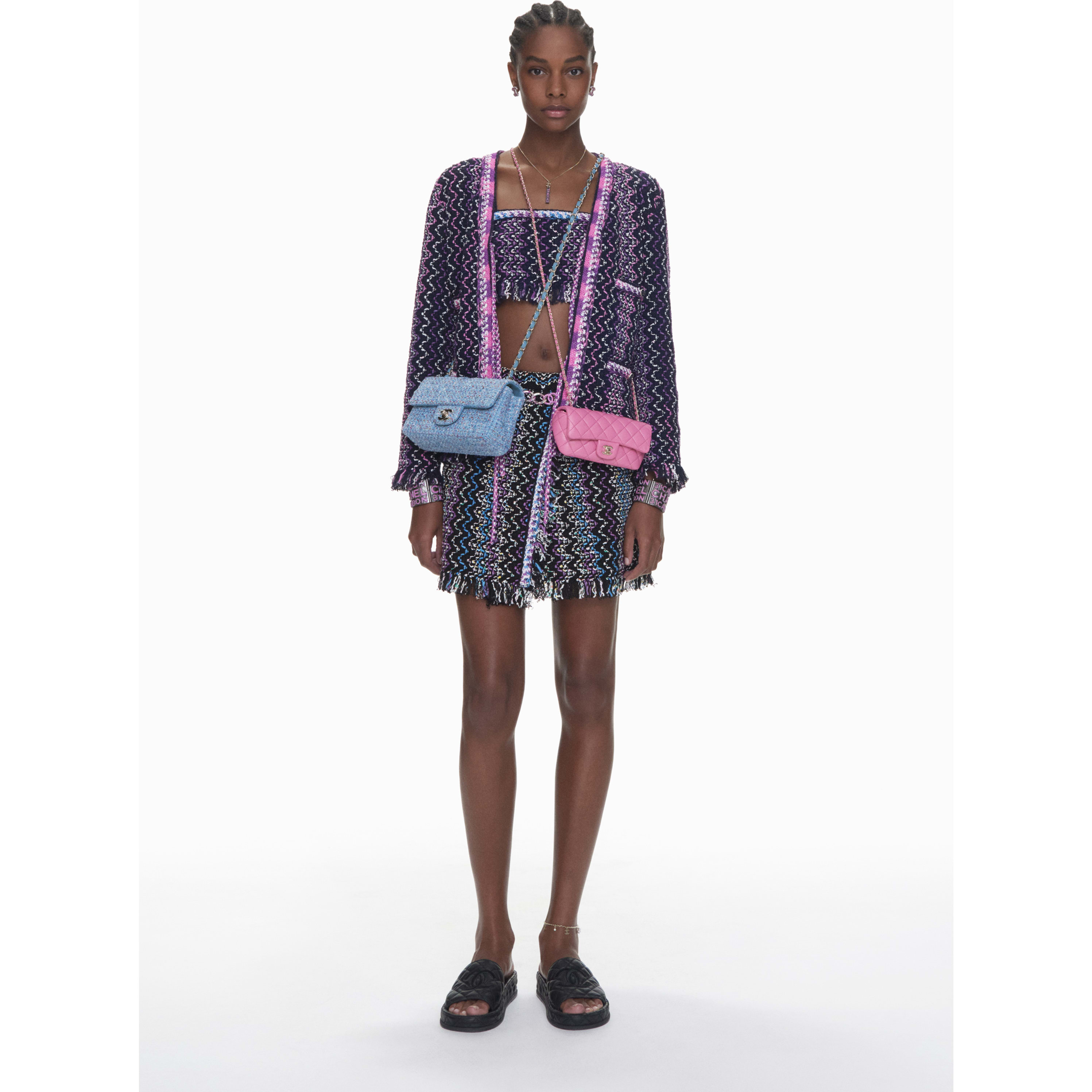 Cardigan - Navy Blue, Purple & Pink - Cotton & Mixed Fibers - CHANEL - Default view - see standard sized version