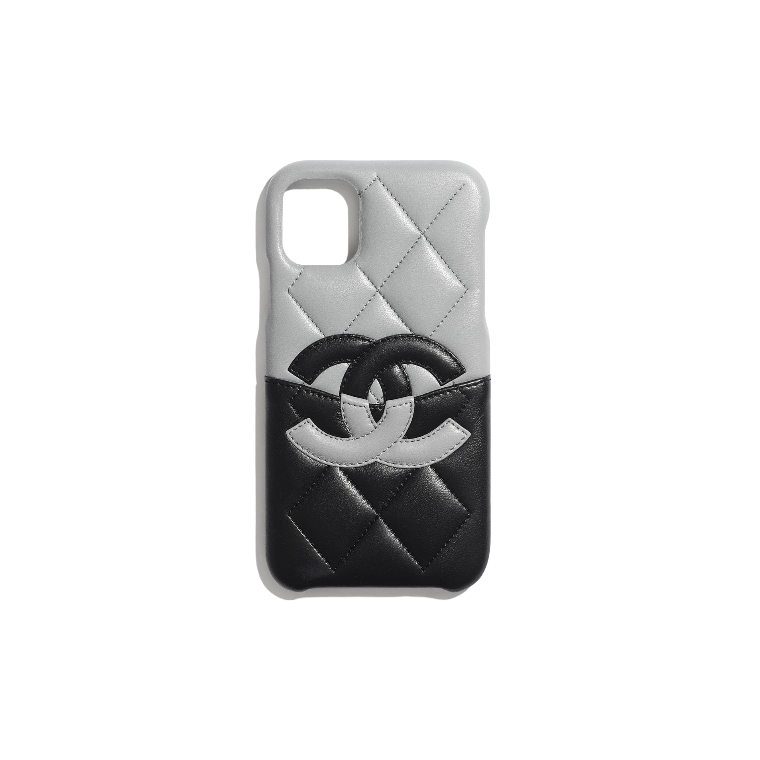 Case for iPhone XI - Grey & Black - Lambskin - CHANEL - Default view - see standard sized version