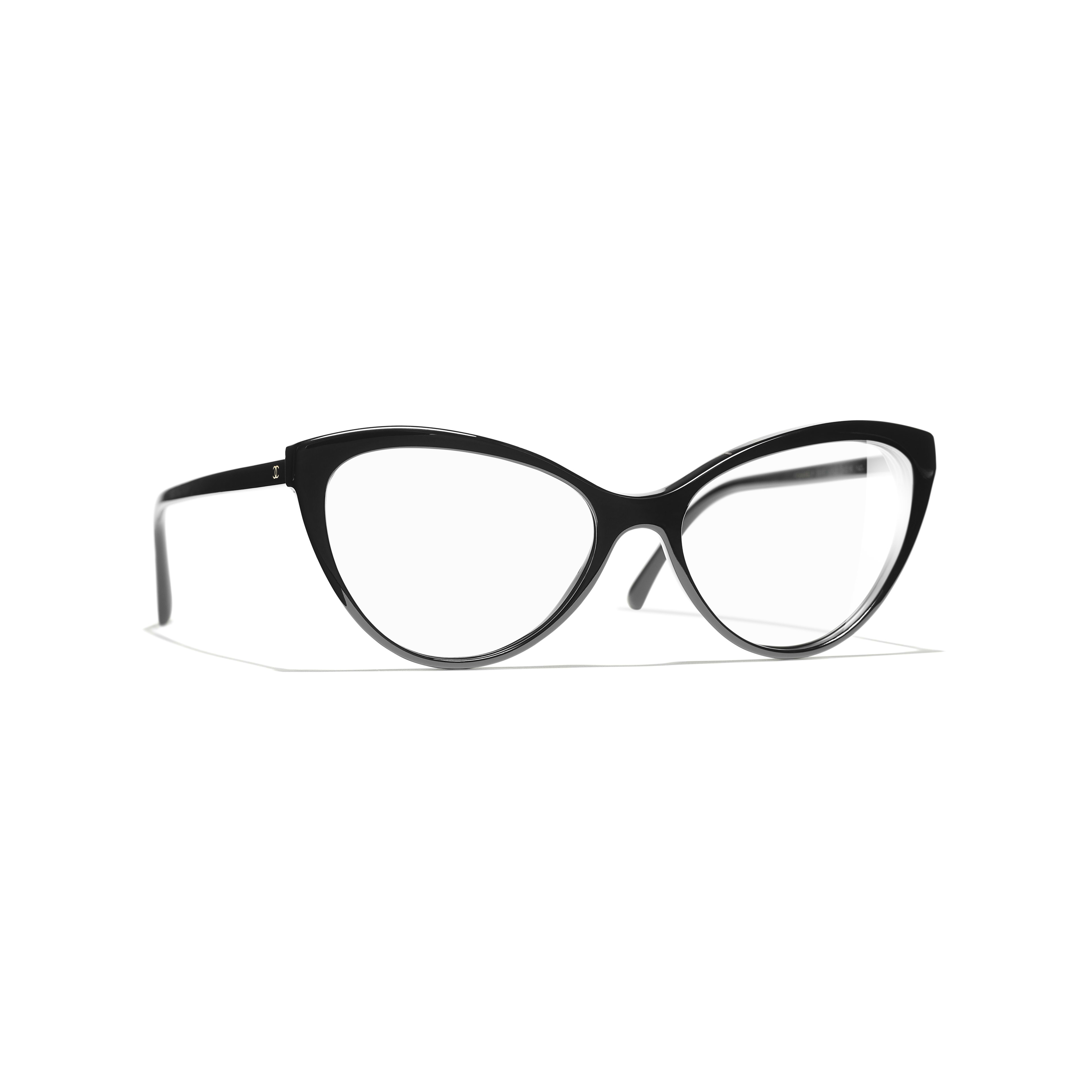 Cat Eye Eyeglasses - Black - Acetate - Default view - see standard sized version