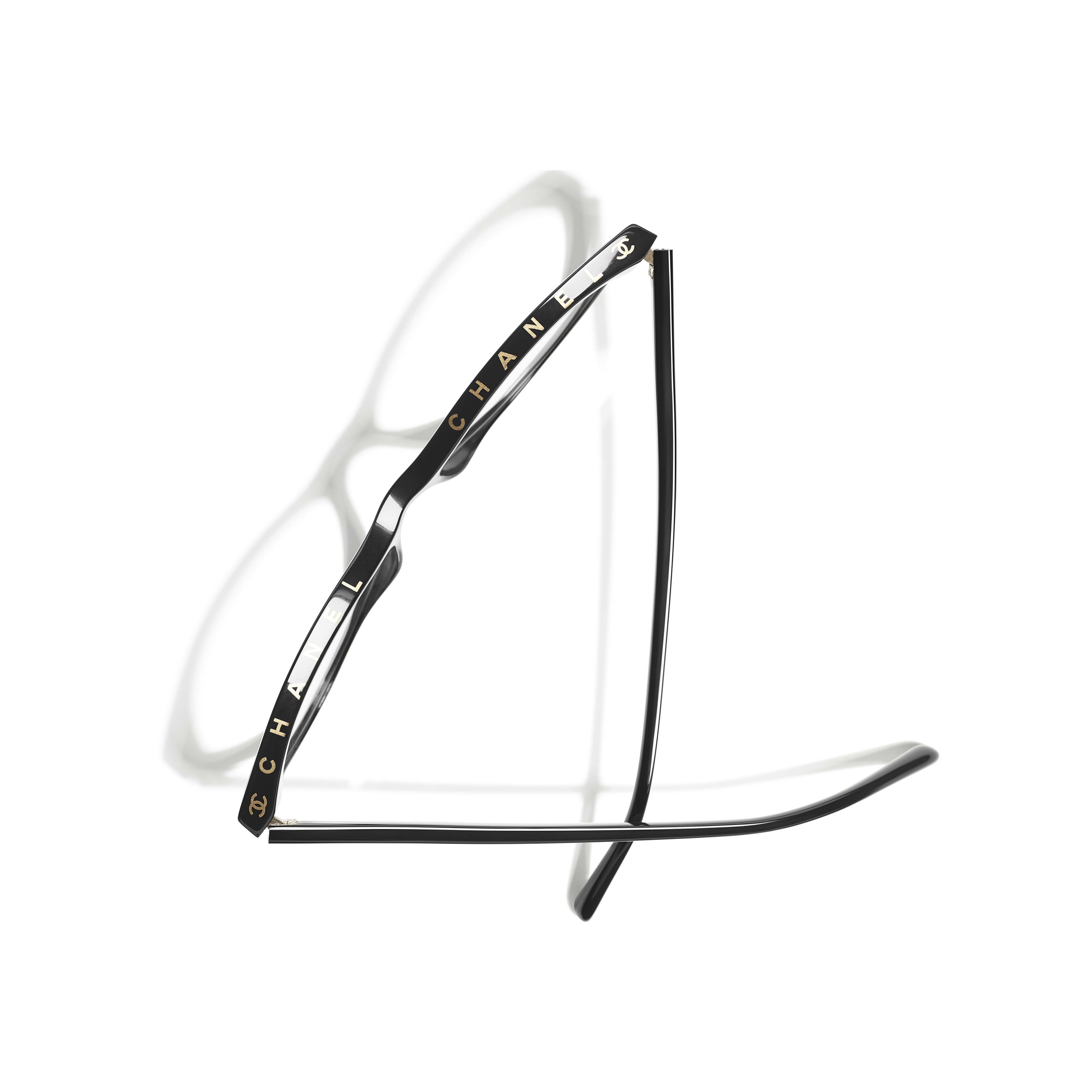 Cat Eye Eyeglasses - Black - Acetate - Extra view - see standard sized version