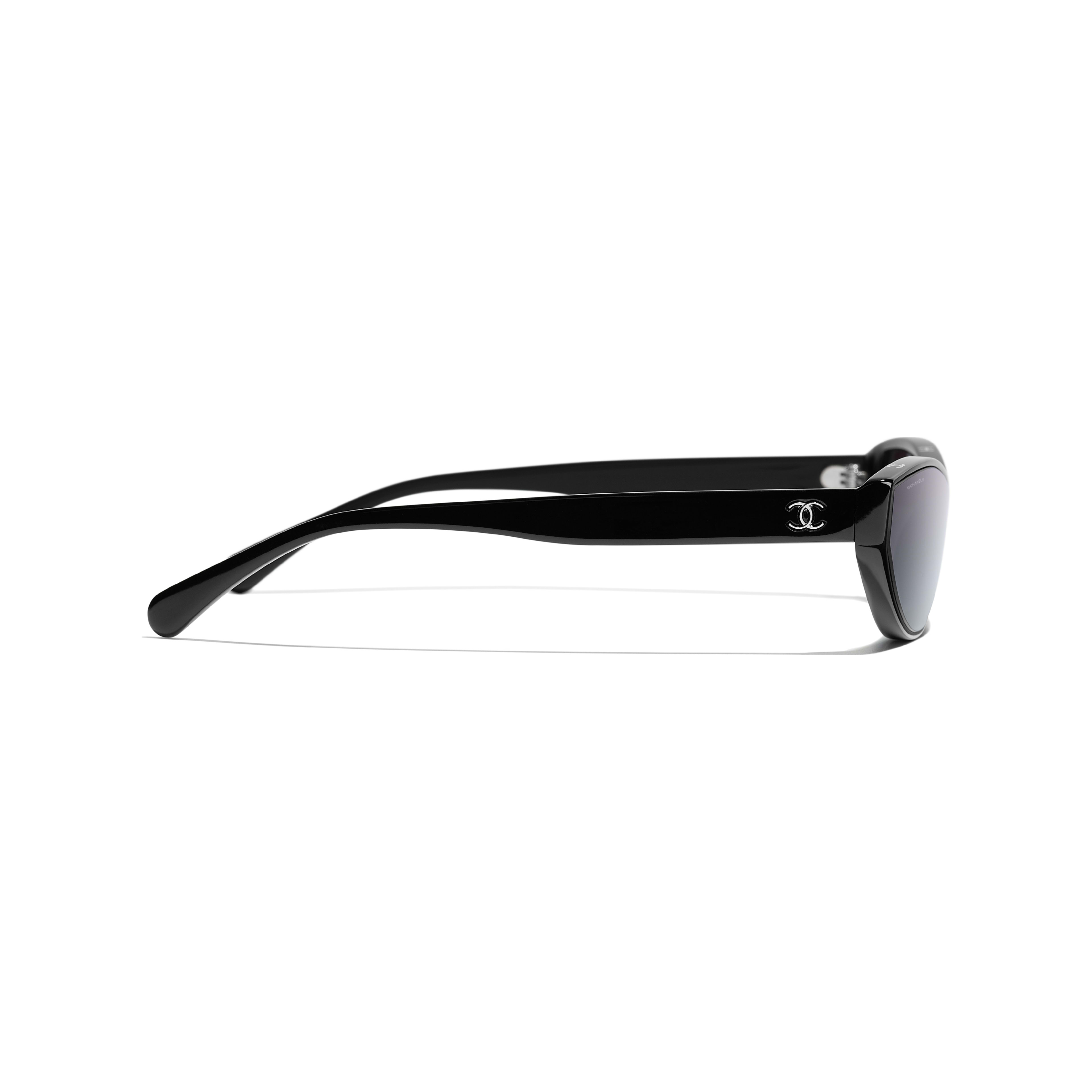 Cat Eye Sunglasses - Black - Acetate - Other view - see standard sized version