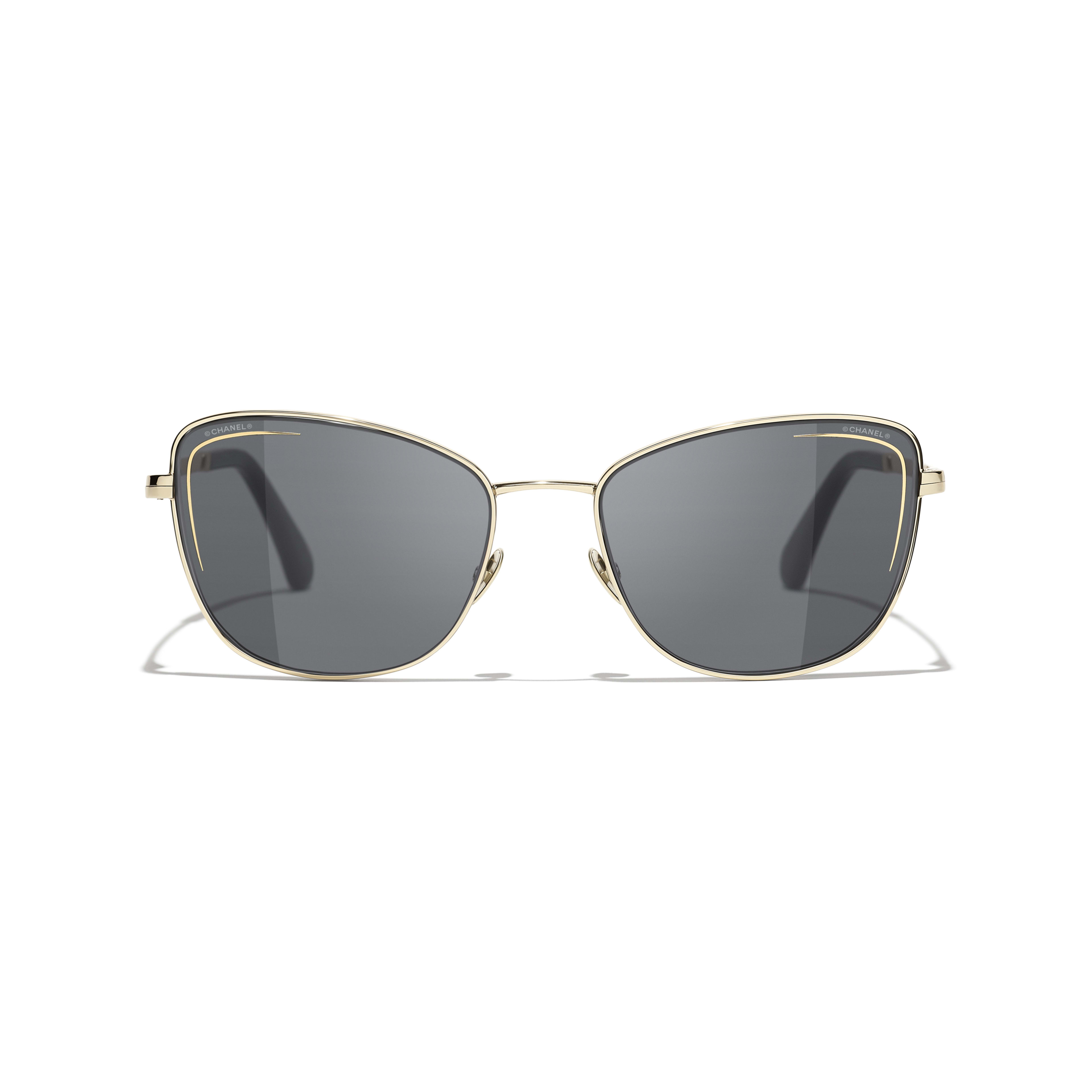 Cat Eye Sunglasses - Gold - Metal - CHANEL - Alternative view - see standard sized version