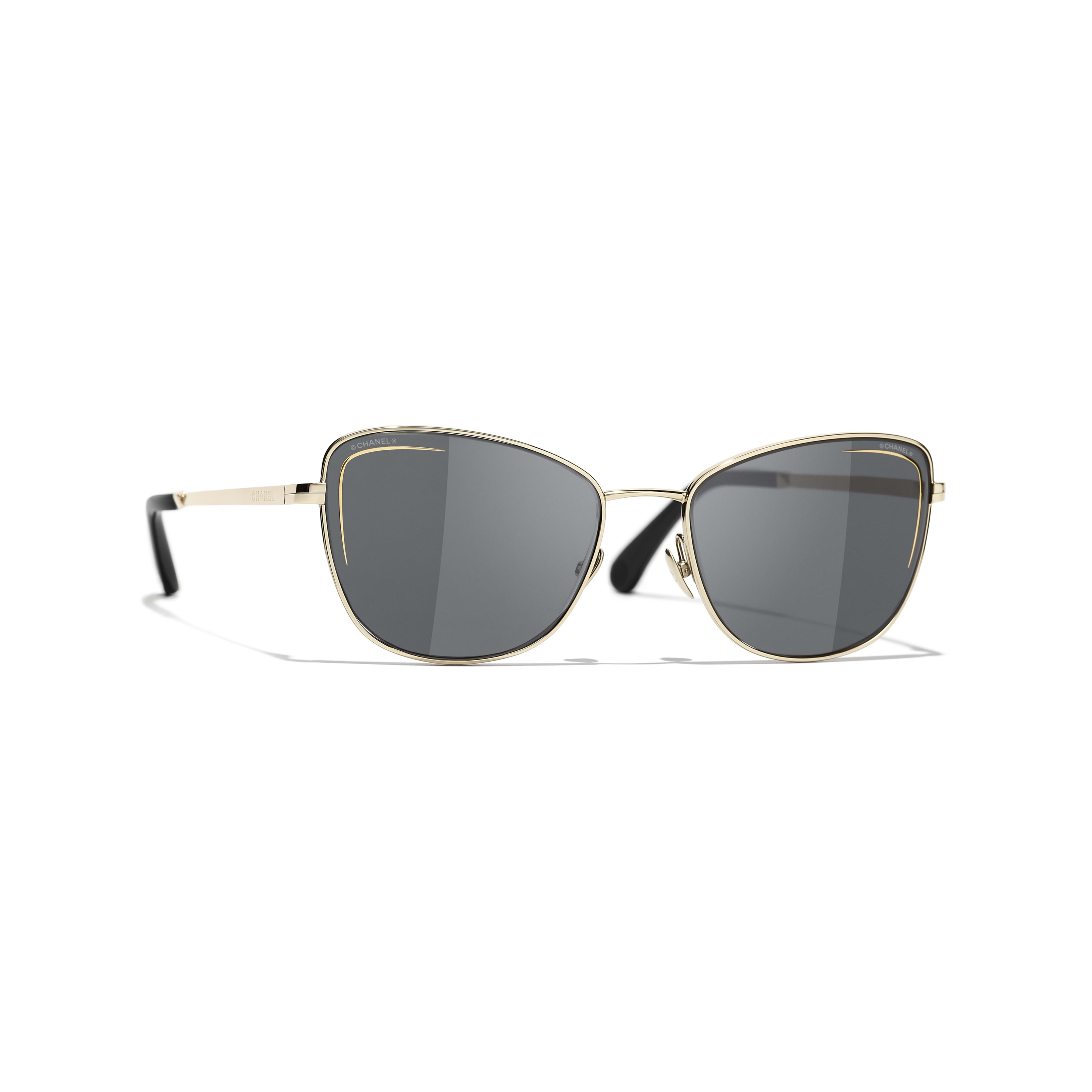Cat Eye Sunglasses - Gold - Metal - CHANEL - Default view - see standard sized version