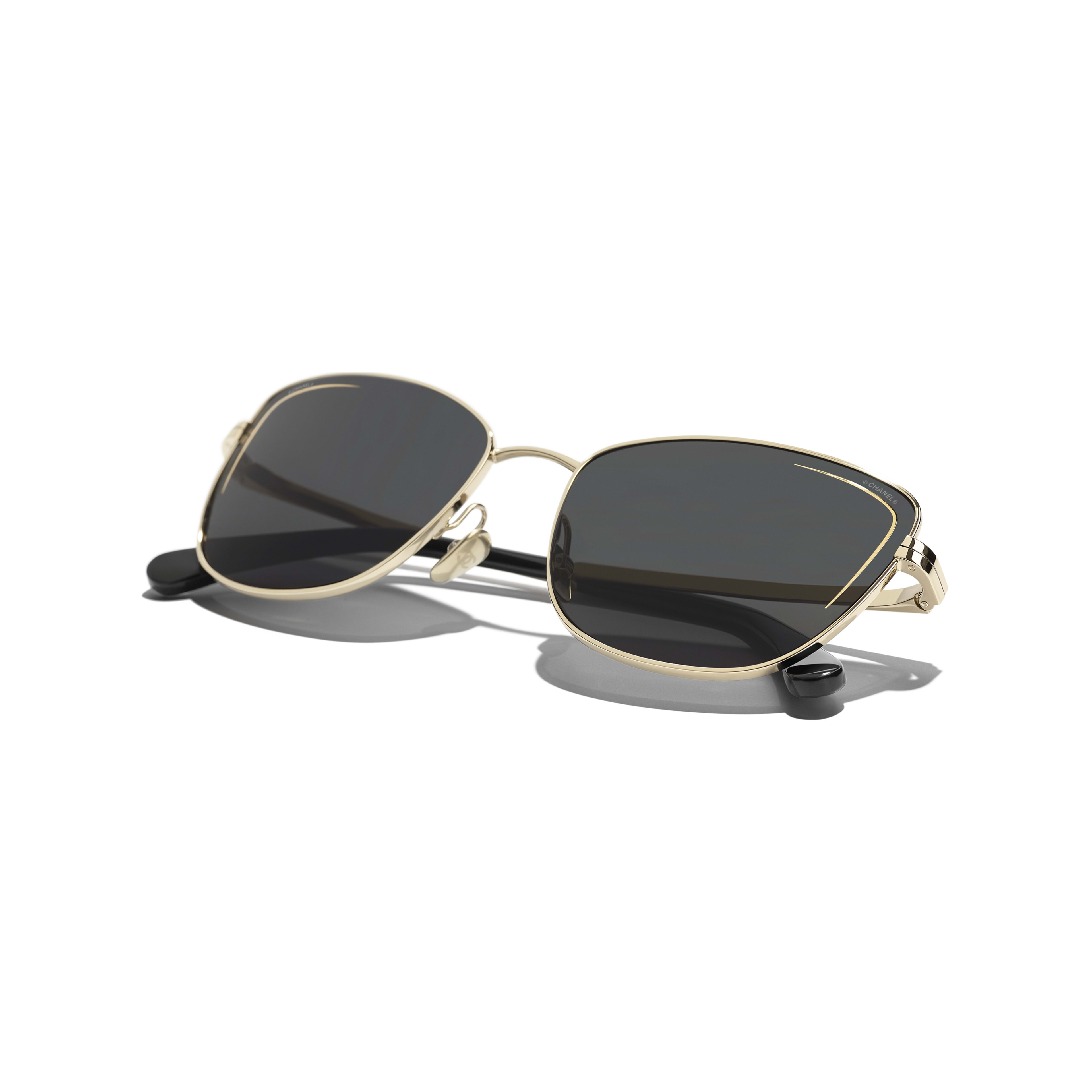 Cat Eye Sunglasses - Gold - Metal - CHANEL - Extra view - see standard sized version