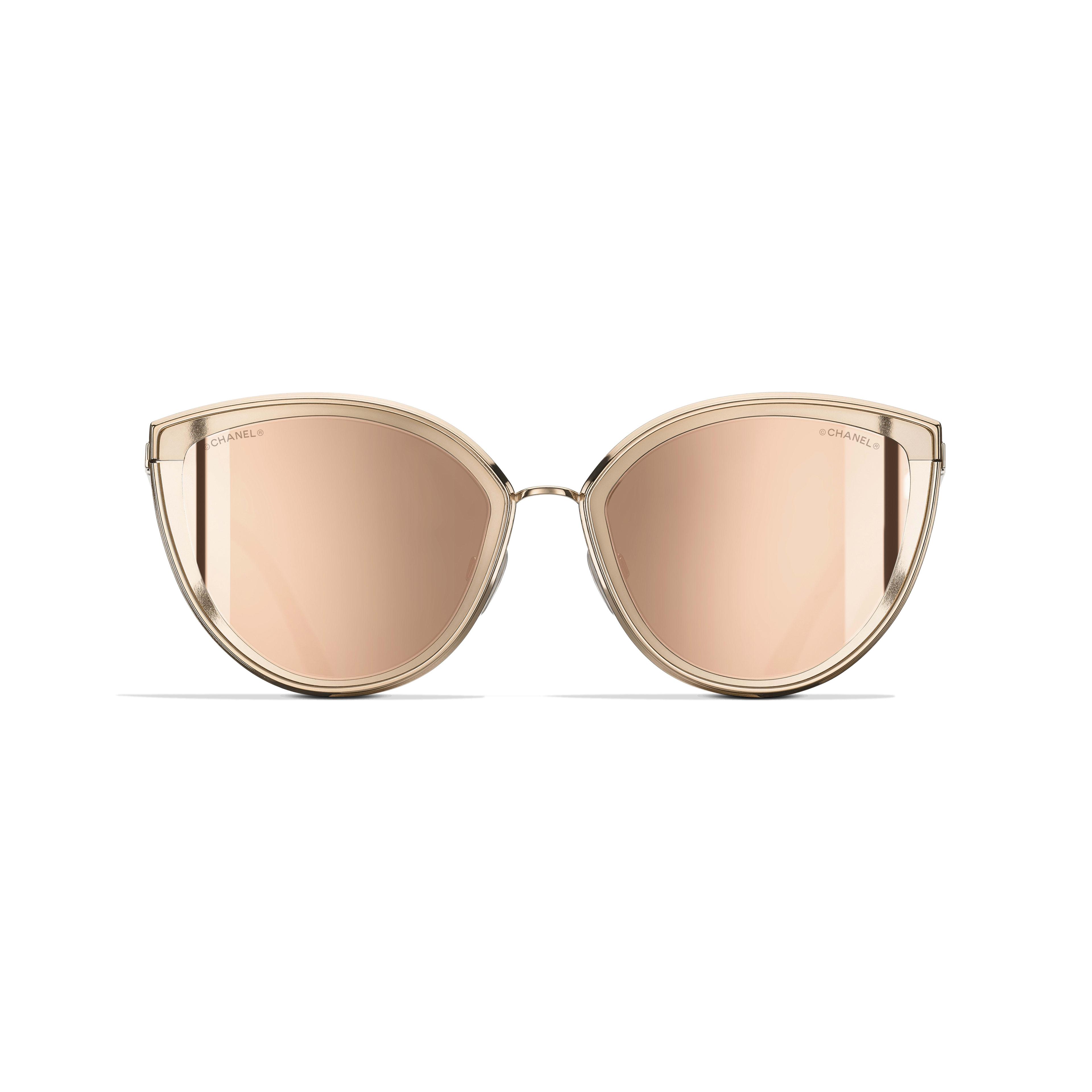 ac68cfbc6bd ... Cat Eye Sunglasses - Pink Gold - Metal - 18-Karat Gold Lenses -  Alternative
