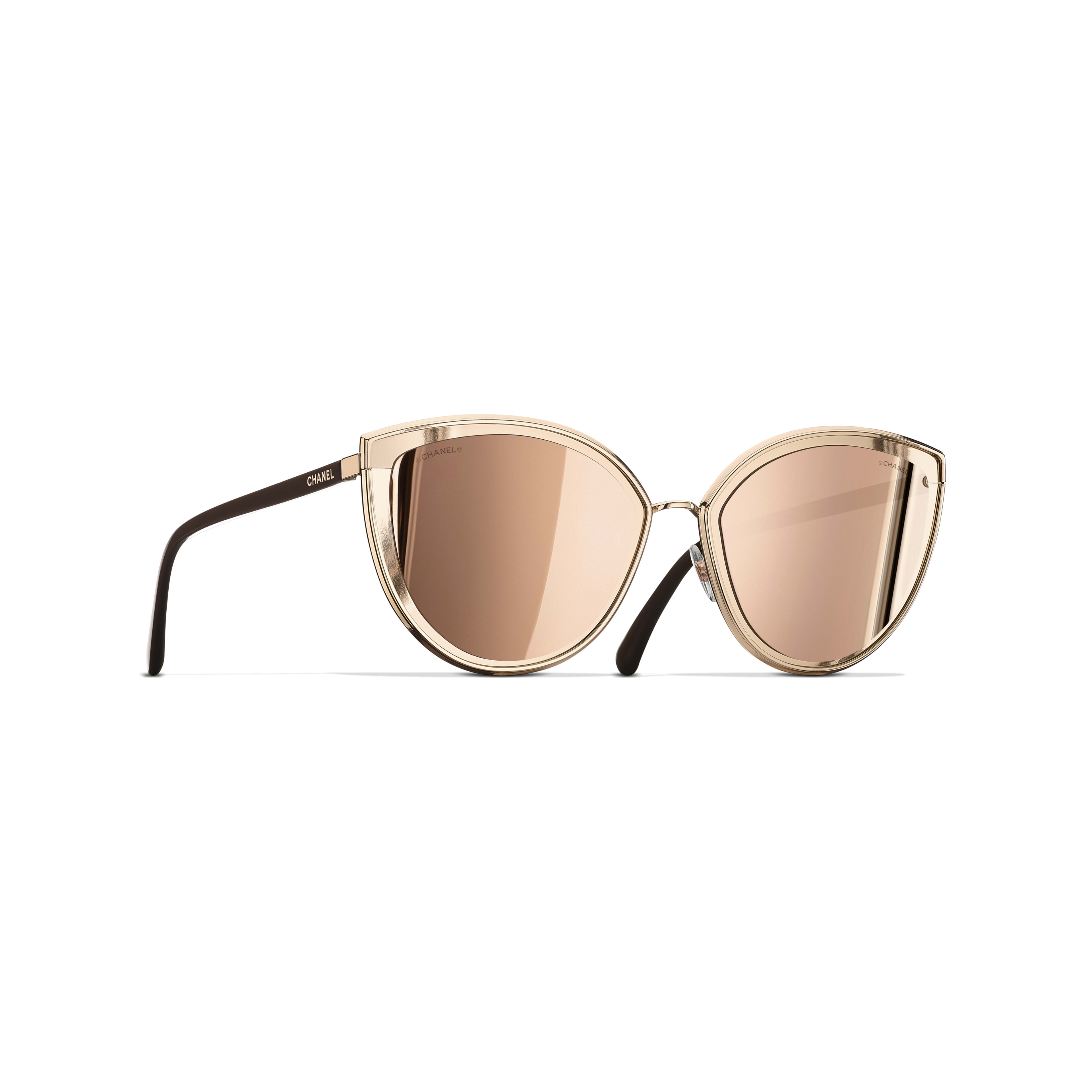 b1ace71e30 Cat Eye Sunglasses - Pink Gold - Metal - 18-Karat Gold Lenses - Default ...