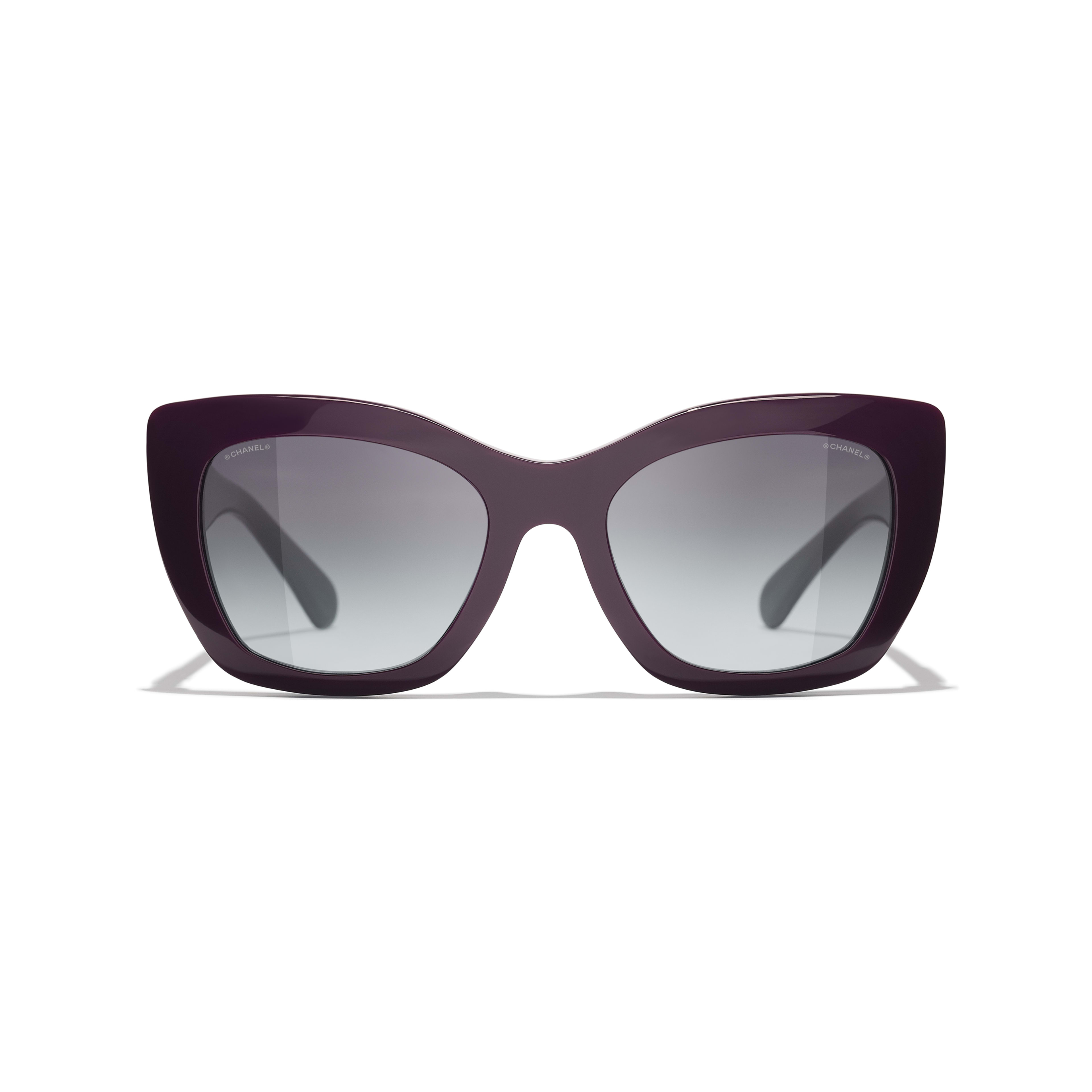 Cat Eye Sunglasses - Purple - Acetate - CHANEL - Alternative view - see standard sized version
