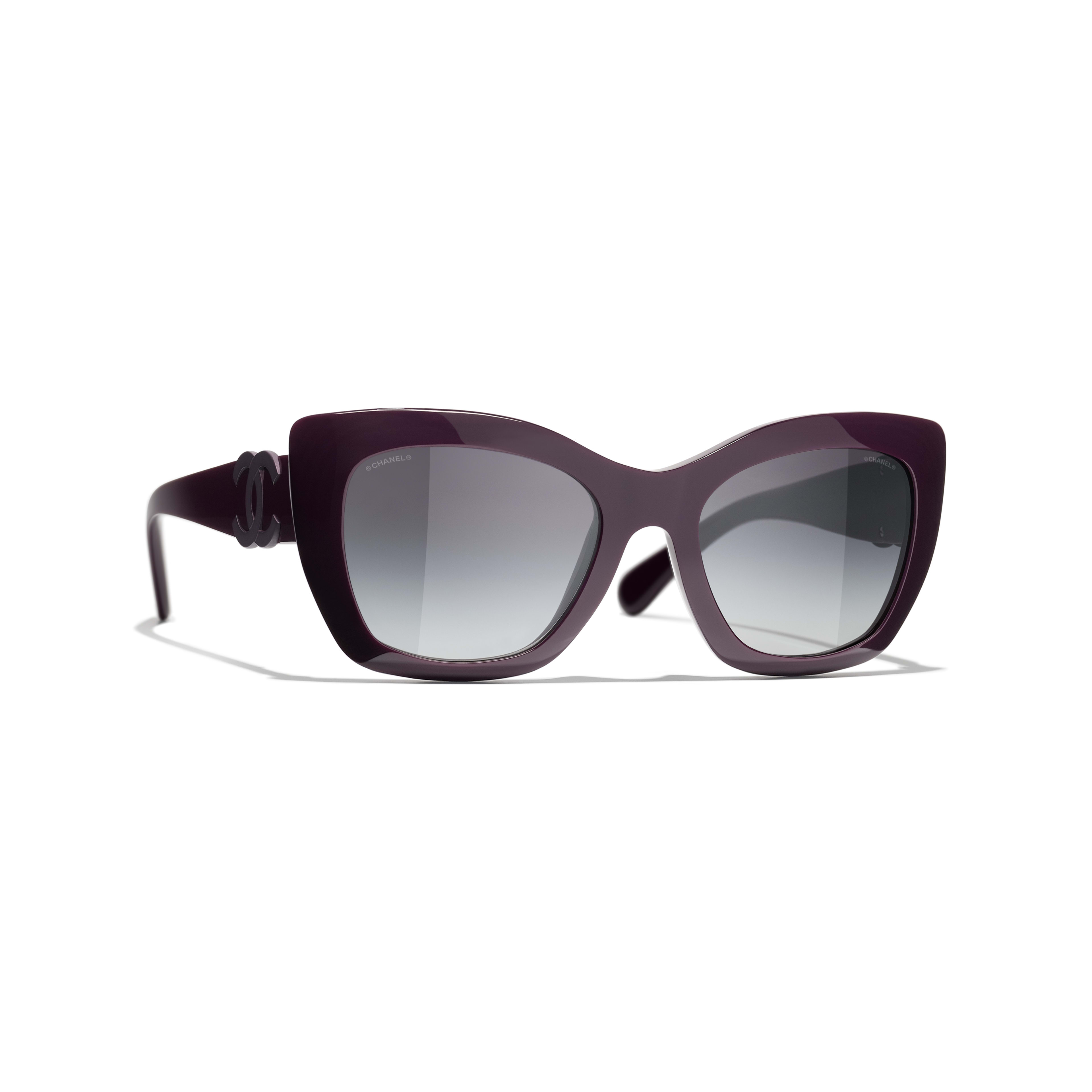 Cat Eye Sunglasses - Purple - Acetate - CHANEL - Default view - see standard sized version