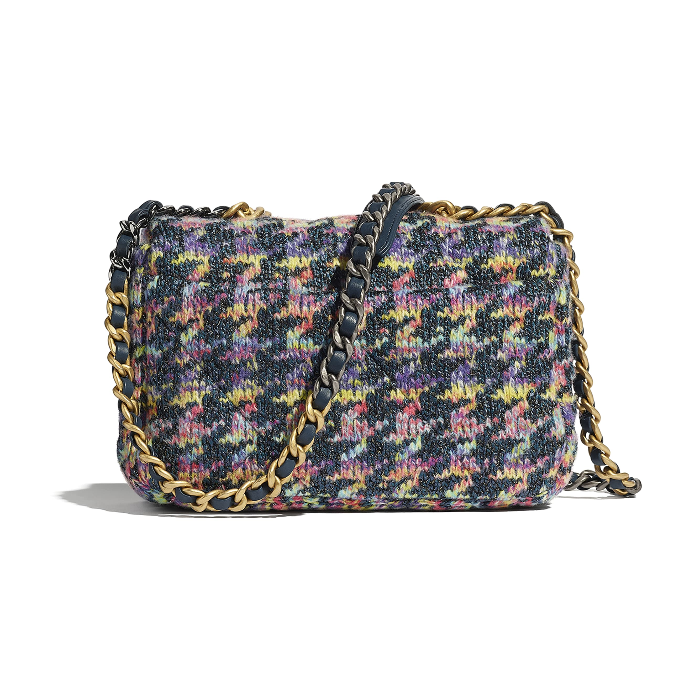 CHANEL 19 Flap Bag - Multicolour - Knit, Gold-Tone, Silver-Tone & Ruthenium-Finish Metal - CHANEL - Alternative view - see standard sized version
