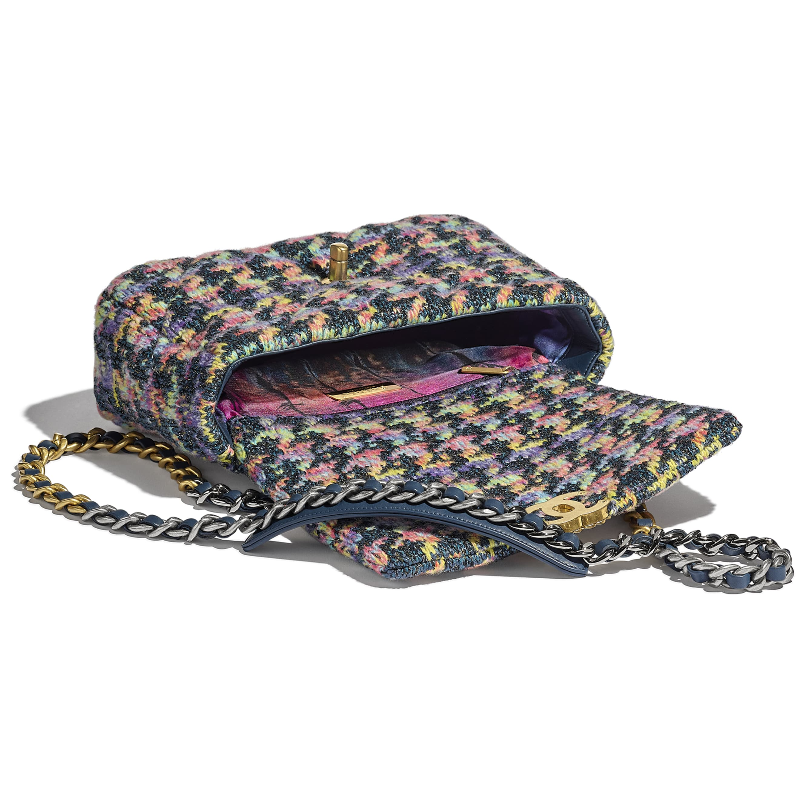 CHANEL 19 Flap Bag - Multicolour - Knit, Gold-Tone, Silver-Tone & Ruthenium-Finish Metal - CHANEL - Other view - see standard sized version