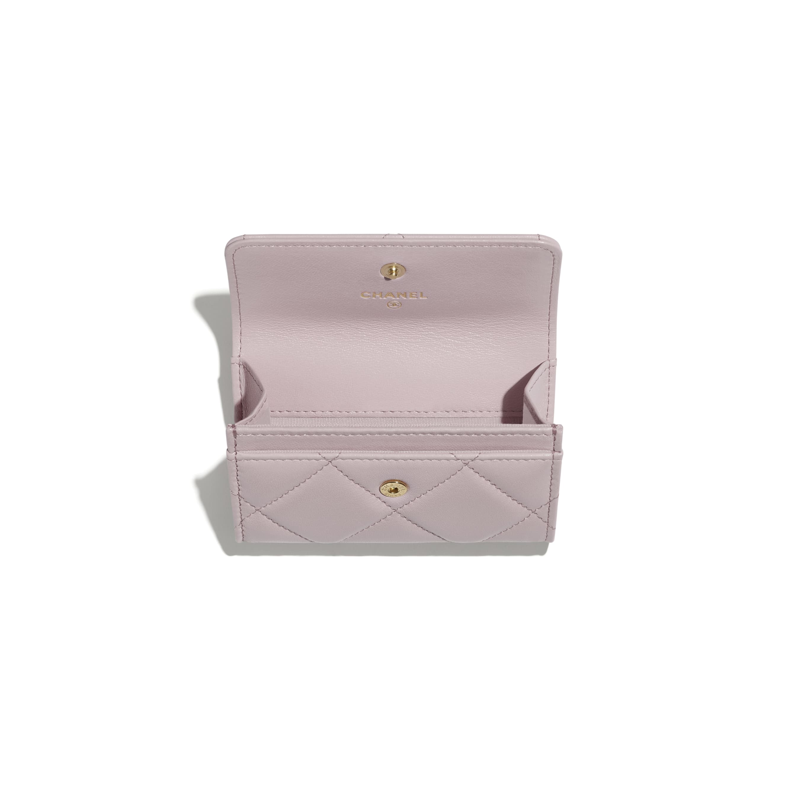 CHANEL 19 Flap Card Holder - Light Pink - Lambskin, Gold-Tone, Silver-Tone & Ruthenium-Finish Metal - CHANEL - Alternative view - see standard sized version