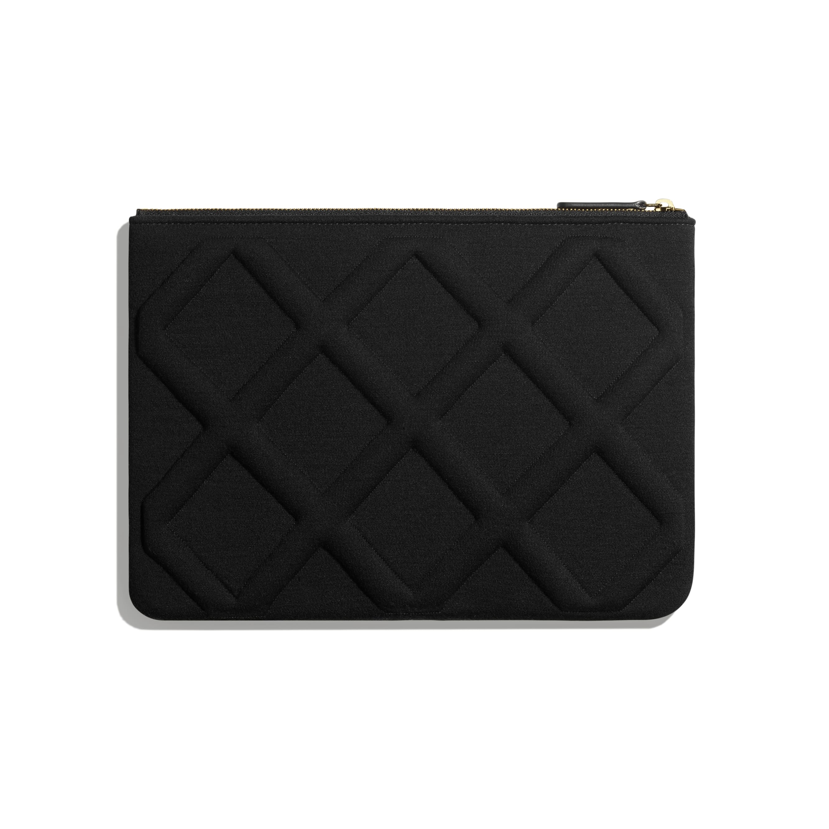 CHANEL 19 Pouch - Black - Jersey, Gold-Tone, Silver-Tone & Ruthenium-Finish Metal - Alternative view - see standard sized version