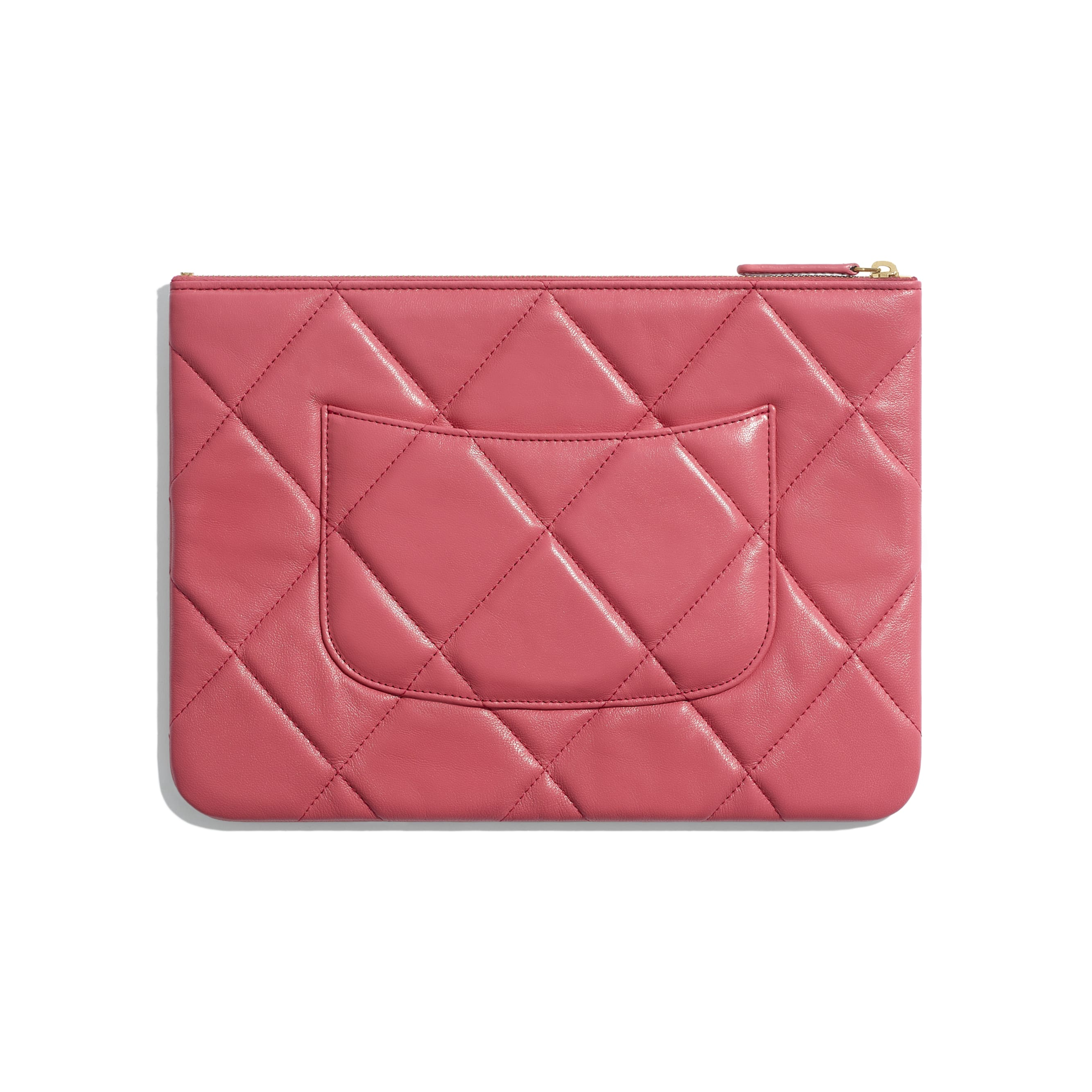 CHANEL 19 Pouch - Pink - Lambskin, Gold-Tone, Silver-Tone & Ruthenium-Finish Metal - Alternative view - see standard sized version