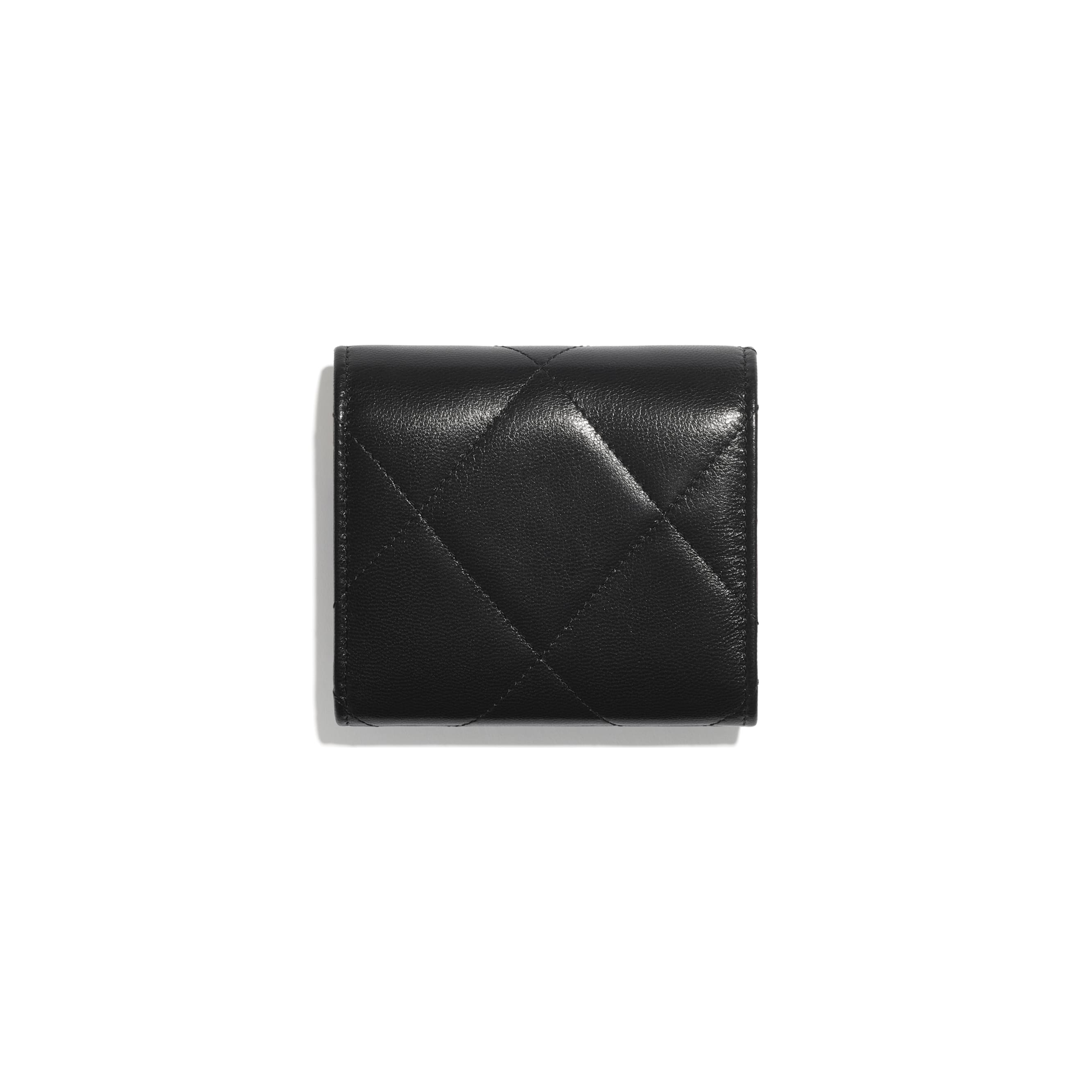 CHANEL 19 Small Flap Wallet - Black - Shiny Goatskin & Gold-Tone Metal - CHANEL - Alternative view - see standard sized version