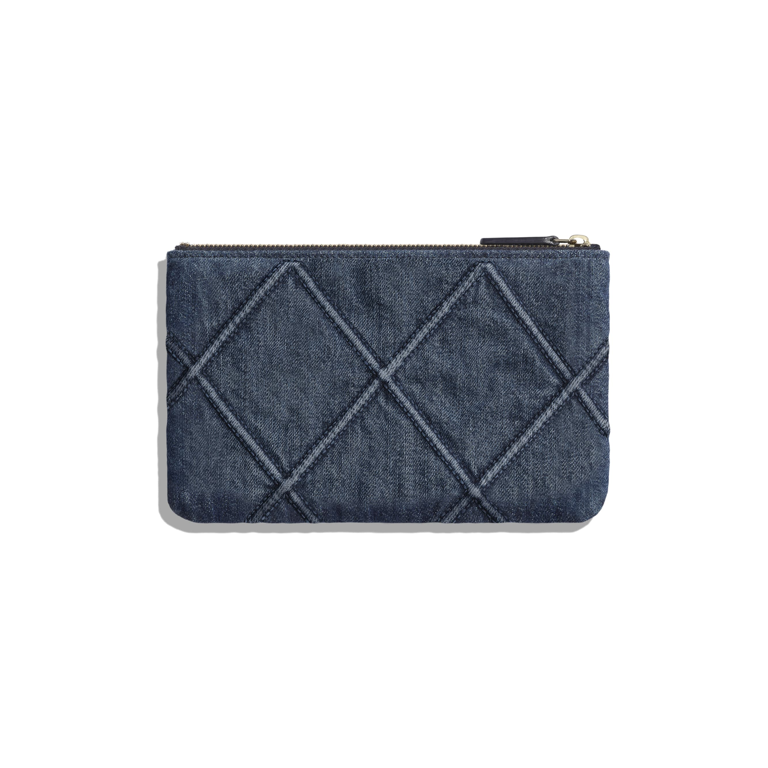 CHANEL 19 Small Pouch - Blue - Denim, Gold-Tone, Silver-Tone & Ruthenium-Finish Metal - CHANEL - Alternative view - see standard sized version
