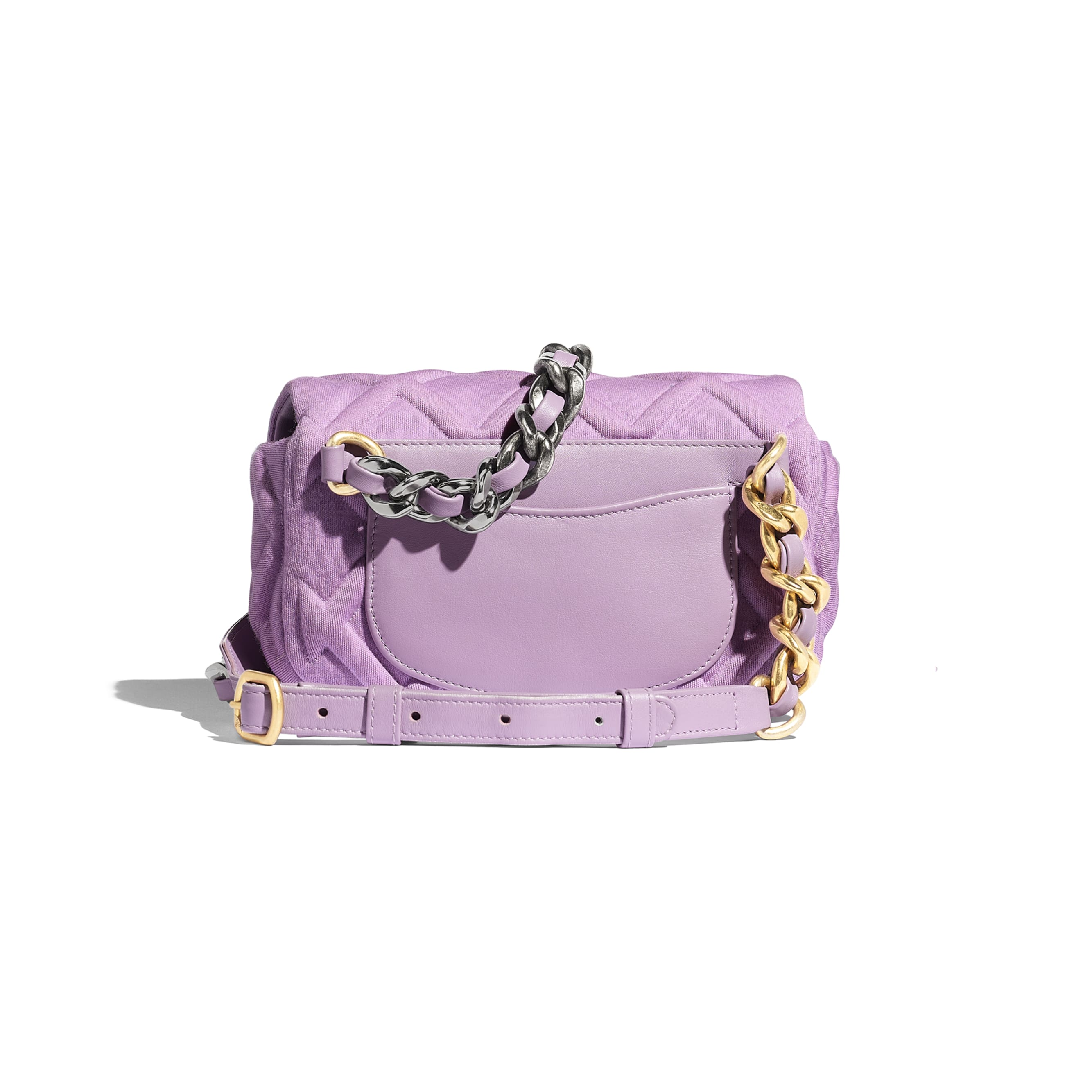 CHANEL 19 Waist Bag - Mauve - Jersey, Gold-Tone, Silver-Tone & Ruthenium-Finish Metal - Alternative view - see standard sized version