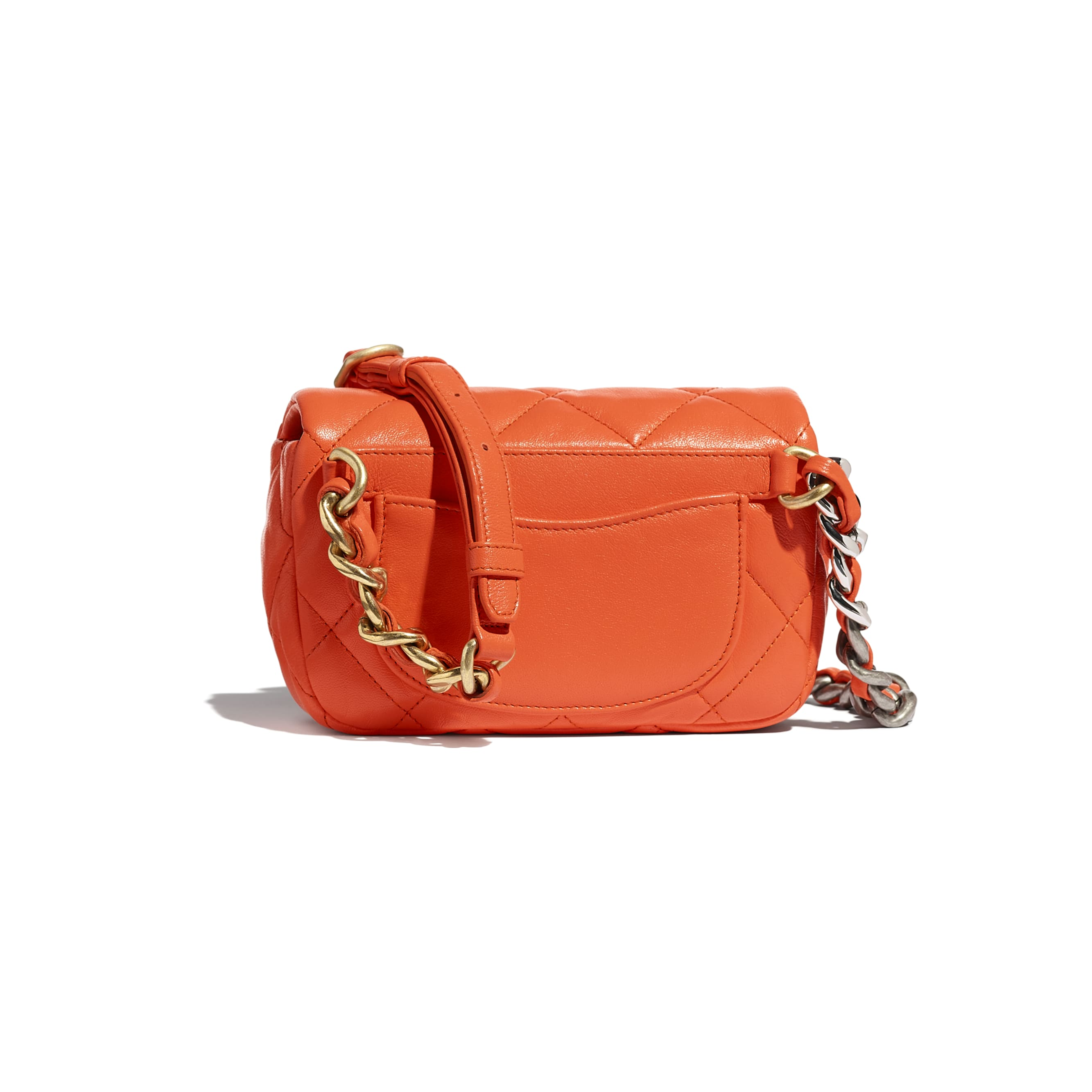 CHANEL 19 Gürteltasche  - Orange - Lammleder, gold-, silber- & rutheniumfarbenes Metall - CHANEL - Alternative Ansicht - Standardgröße anzeigen