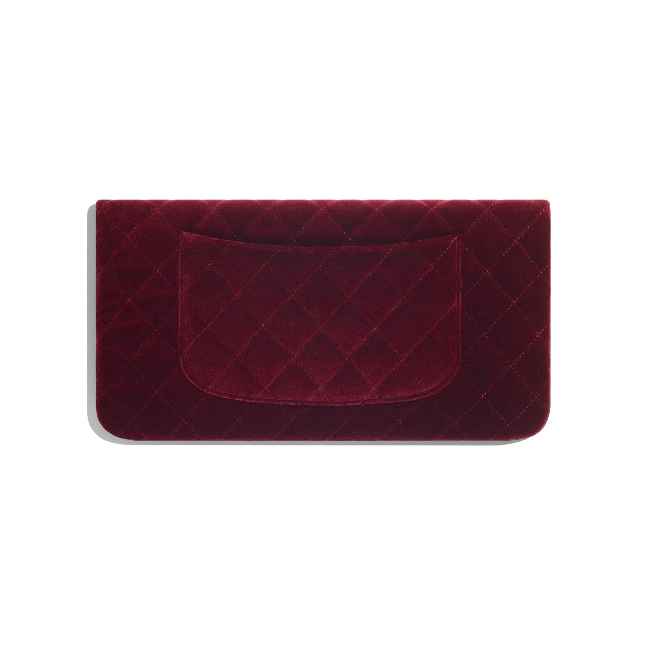 CHANEL 31 Pouch - Burgundy - Velvet, Lambskin & Gold Metal - Alternative view - see standard sized version