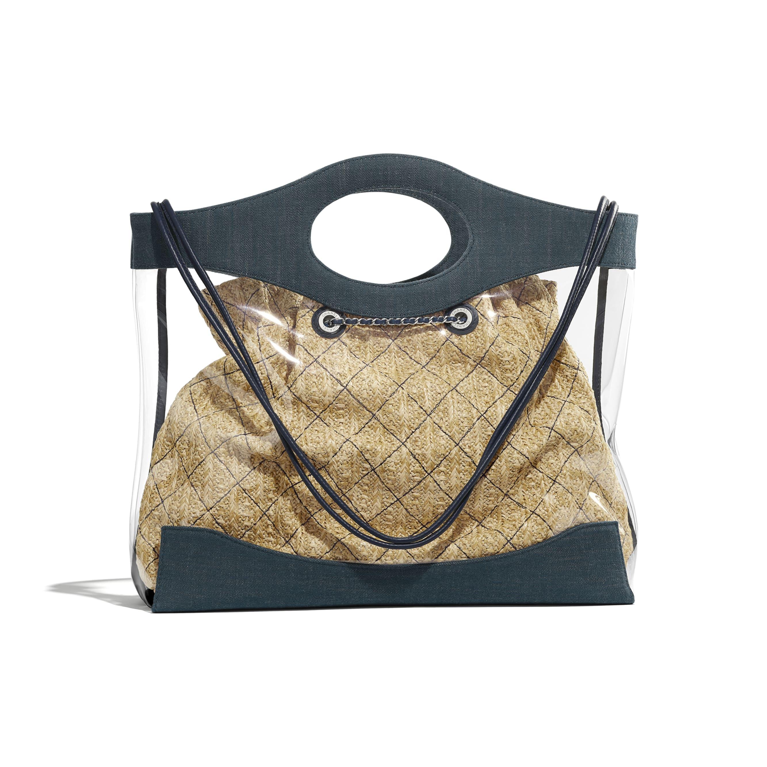 CHANEL 31 Shopping Bag - Blue - PVC, Denim, Calfskin & Silver-Tone Metal - Alternative view - see standard sized version