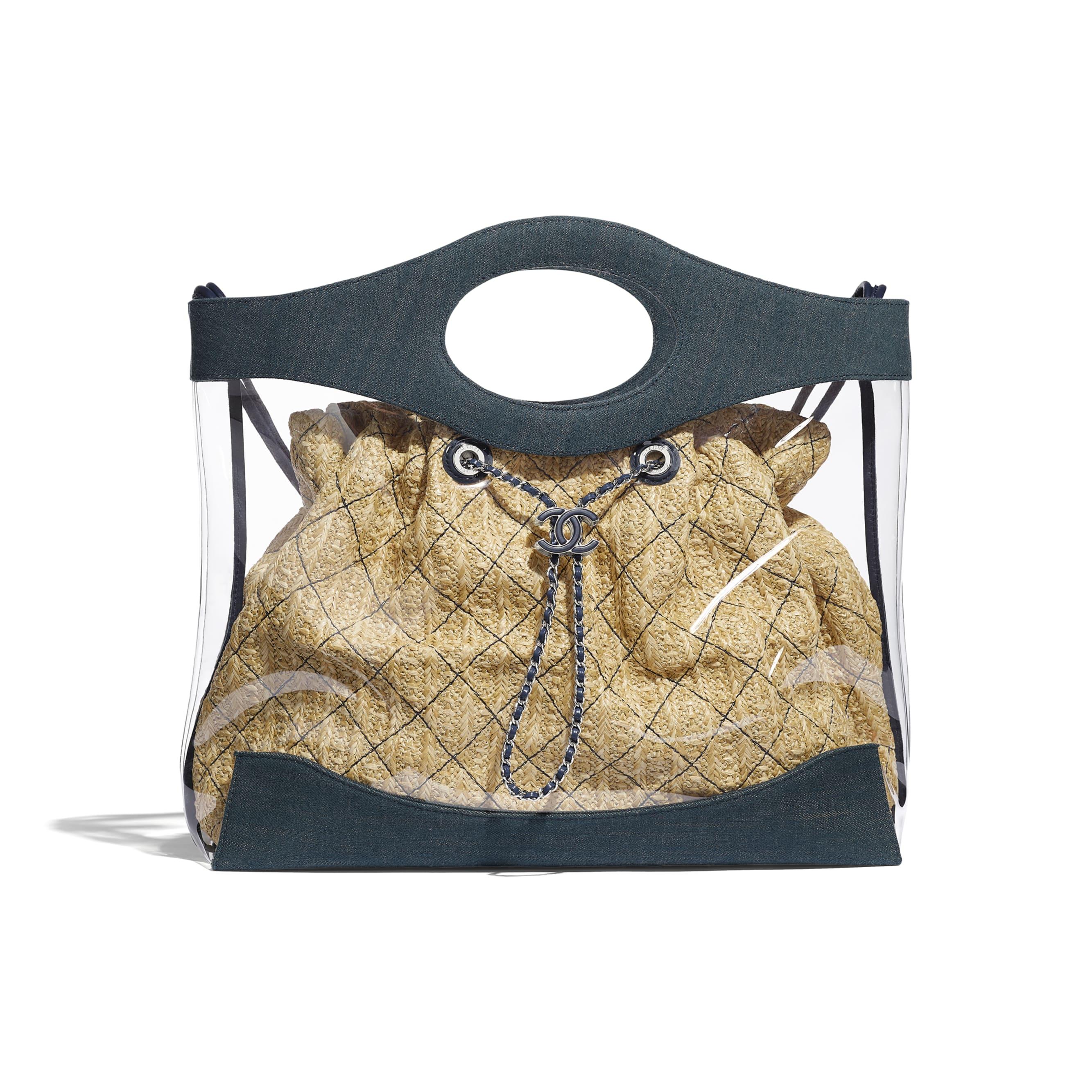 CHANEL 31 Shopping Bag - Blue - PVC, Denim, Calfskin & Silver-Tone Metal - Default view - see standard sized version