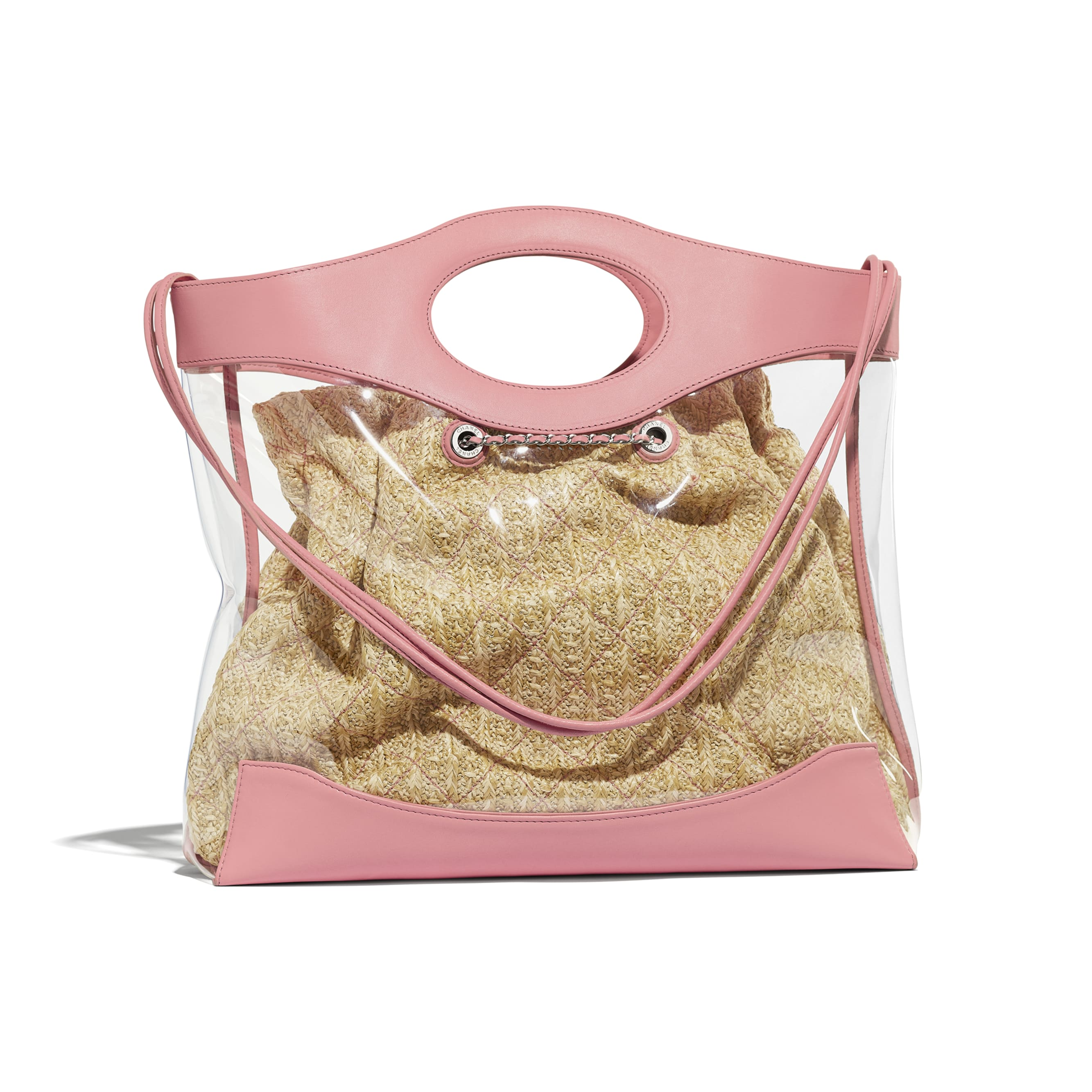 CHANEL 31 Shopping Bag - Pink - PVC, Calfskin & Silver-Tone Metal - Alternative view - see standard sized version
