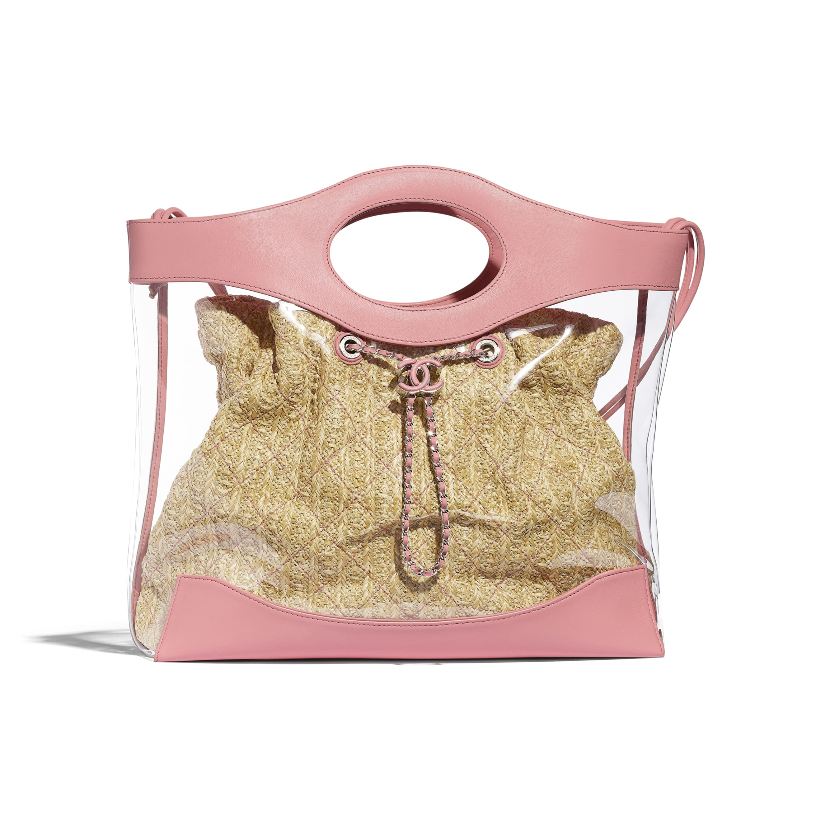 CHANEL 31 Shopping Bag - Pink - PVC, Calfskin & Silver-Tone Metal - Default view - see standard sized version