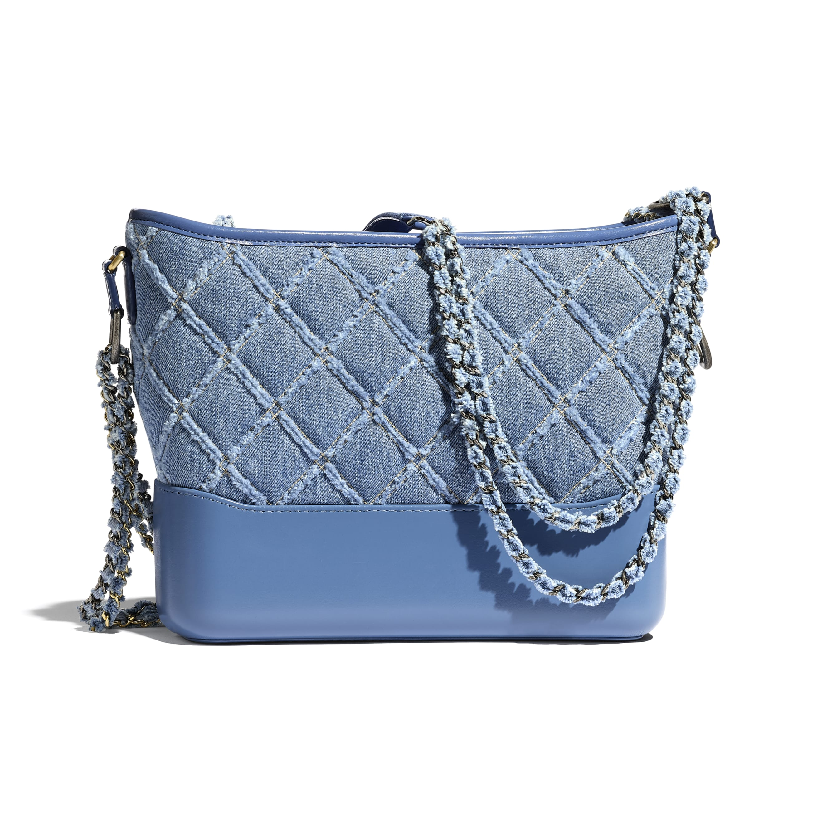 CHANEL'S GABRIELLE Large Hobo Bag - Blue - Denim, Calfskin, Gold-Tone, Silver-Tone & Ruthenium-Finish Metal - CHANEL - Alternative view - see standard sized version
