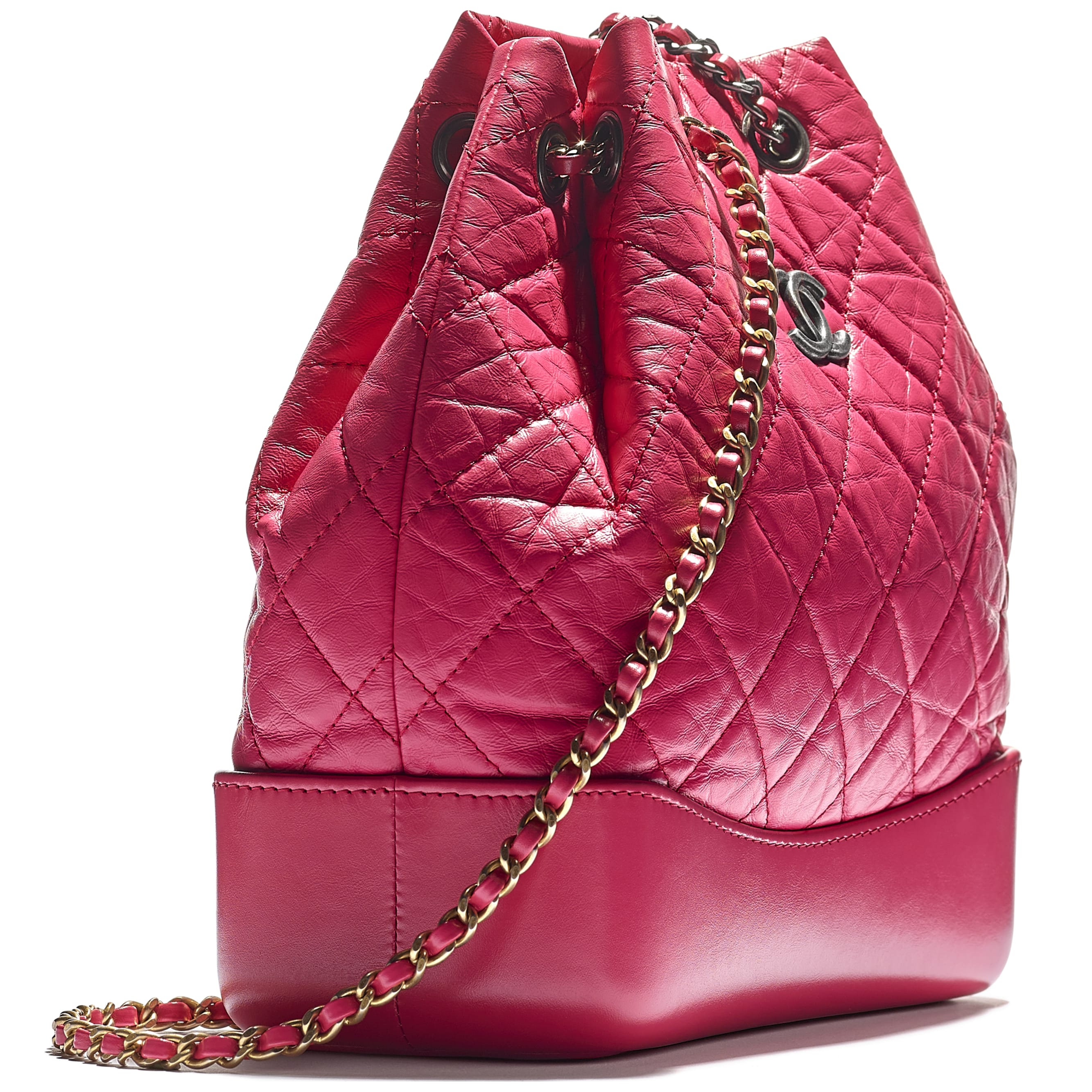 CHANEL'S GABRIELLE Small Backpack - Pink - Aged Calfskin, Smooth Calfskin, Gold-Tone, Silver-Tone & Ruthenium-Finish Metal - CHANEL - Extra view - see standard sized version